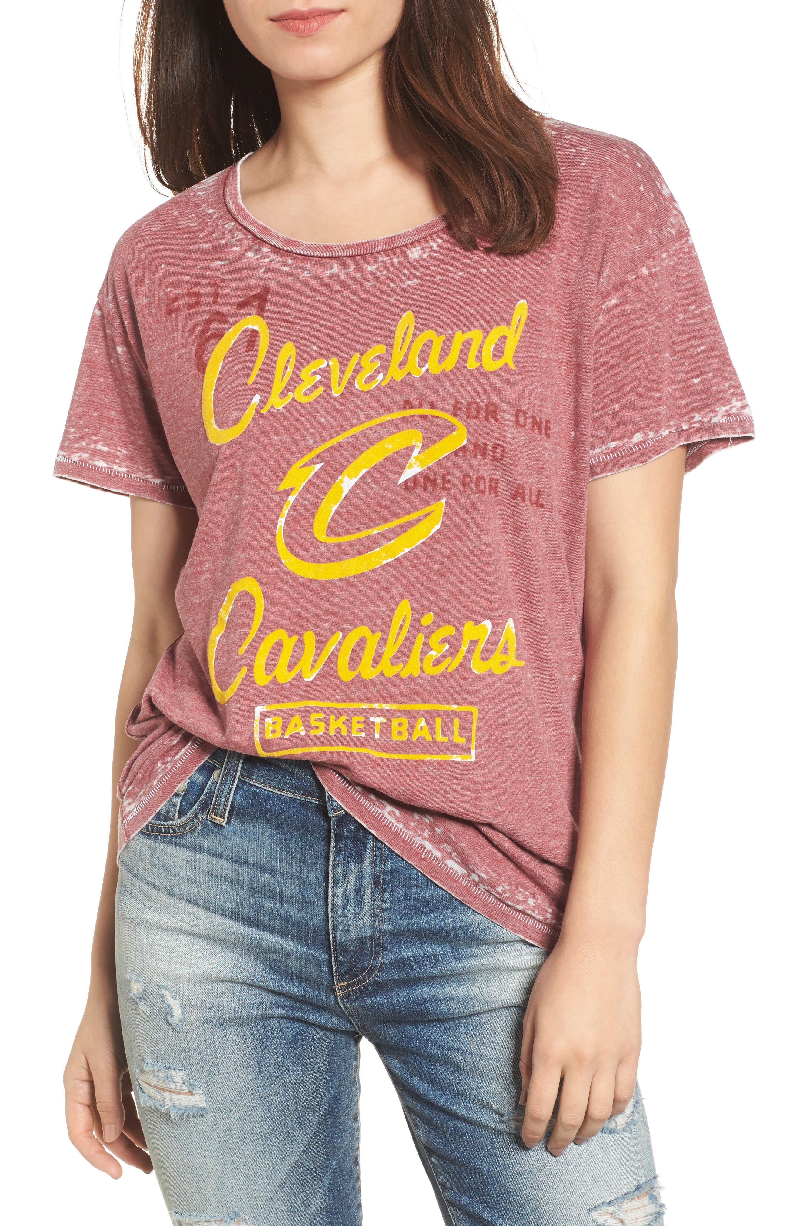 NBA Cleveland Cavaliers Tee,                         Main,                         color, Crimson
