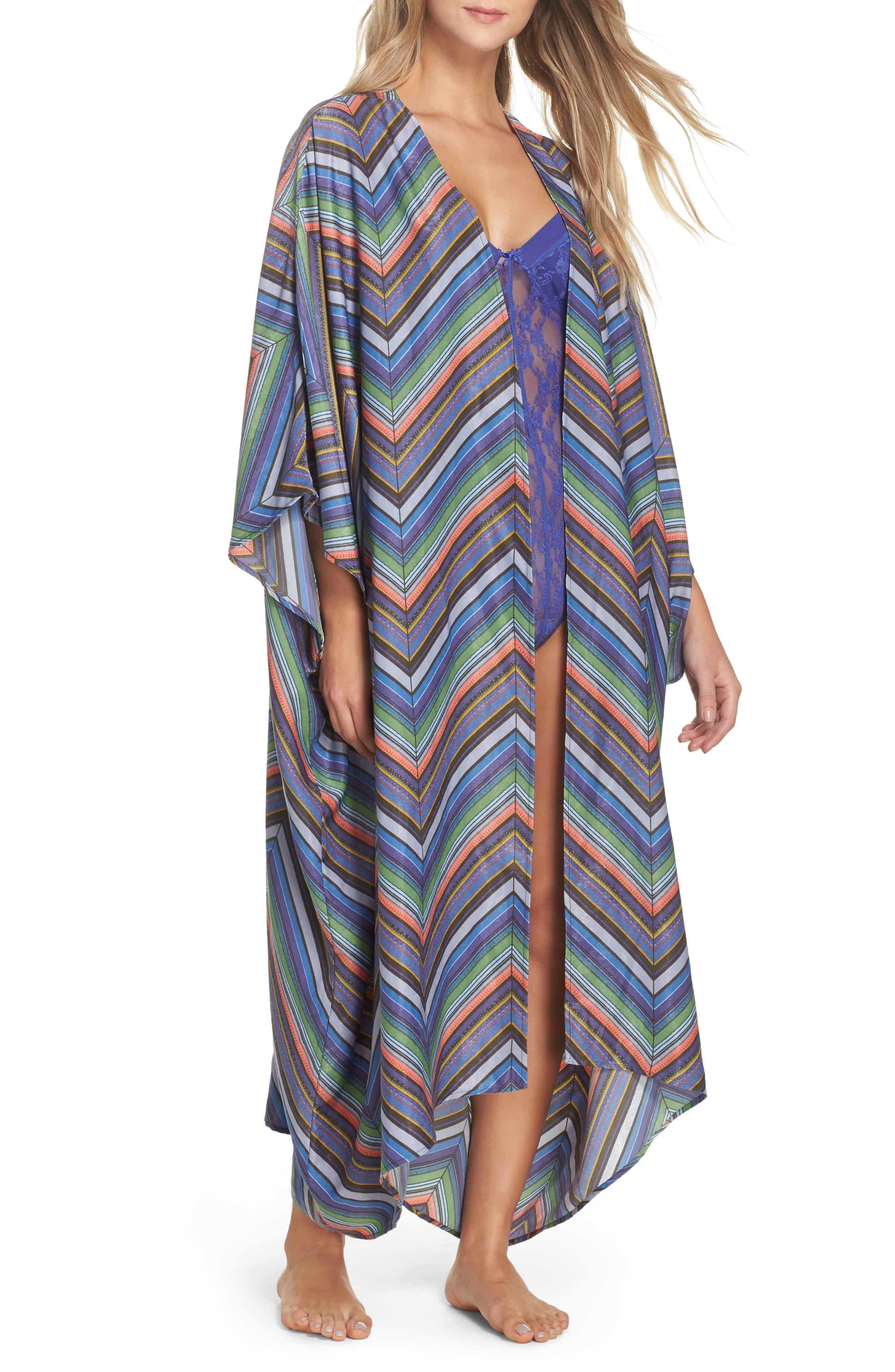 Mojave Limono Robe,                         Main,                         color, Blue Combo