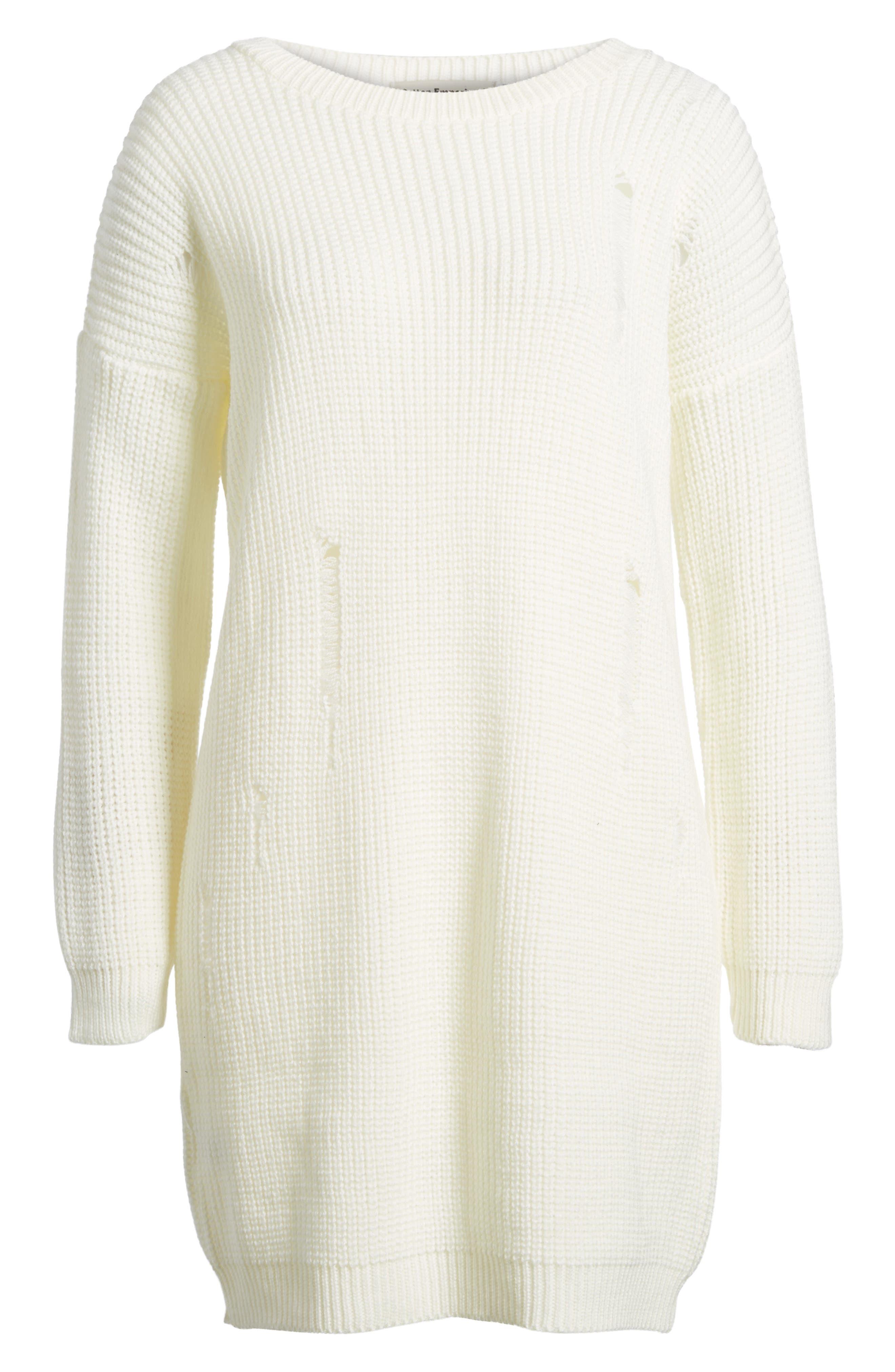Alternate Image 6  - Cotton Emporium Distressed Sweater Dress