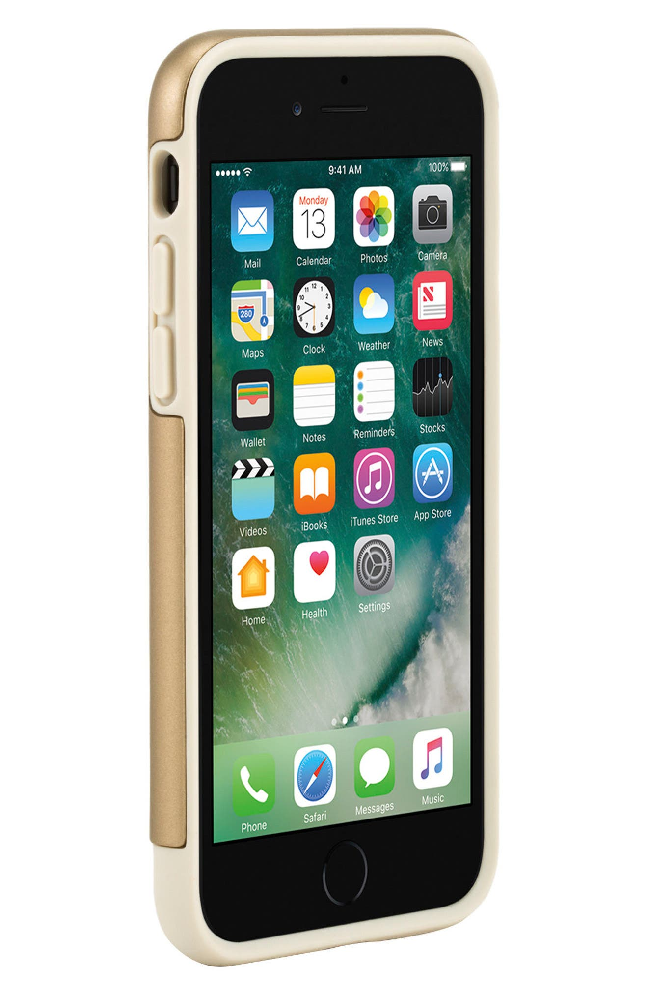 Dual Snap iPhone 7 & 8 Case,                             Alternate thumbnail 5, color,                             Gold