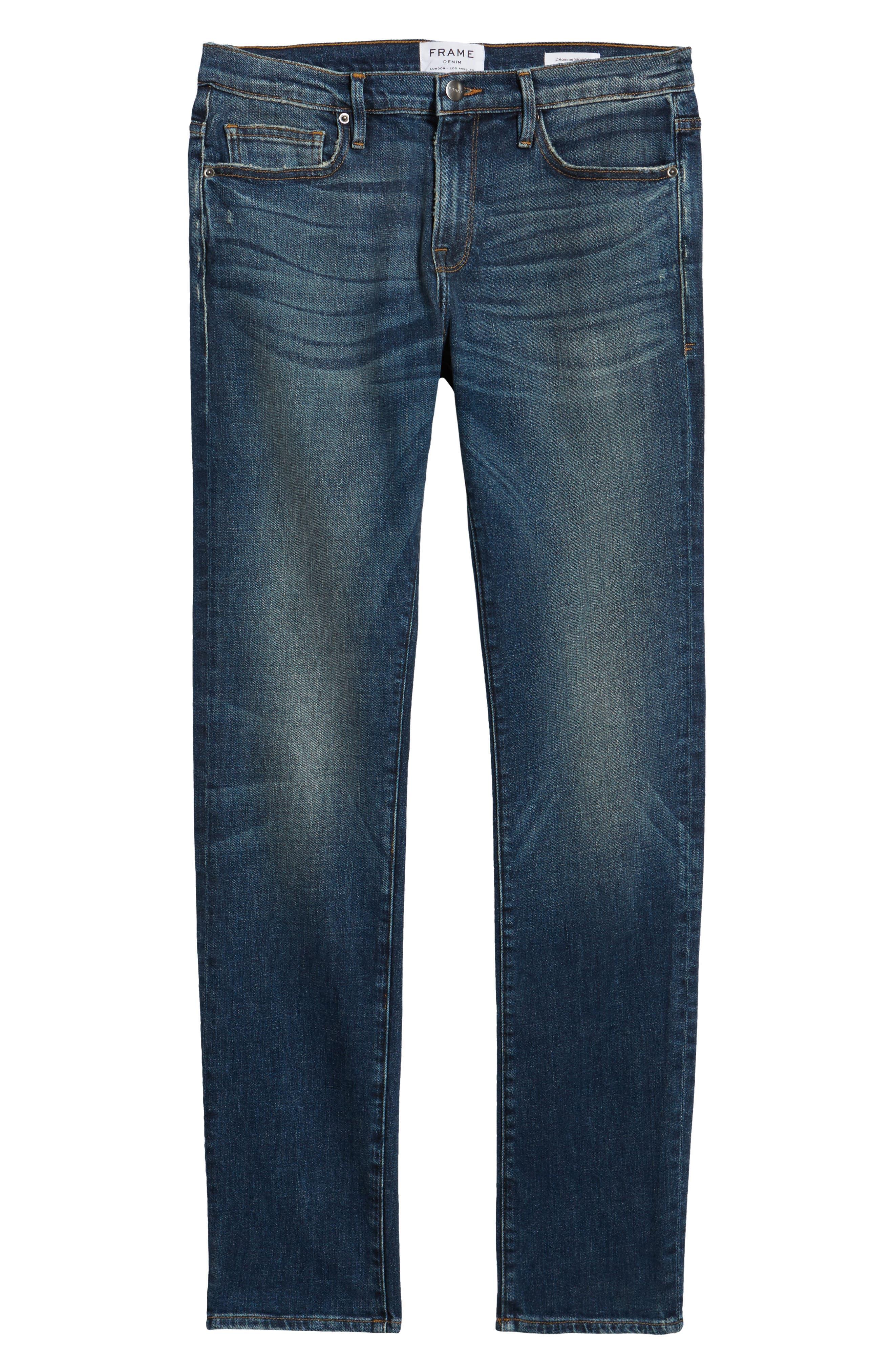 L'Homme Slim Fit Jeans,                             Alternate thumbnail 6, color,                             Salt Lake