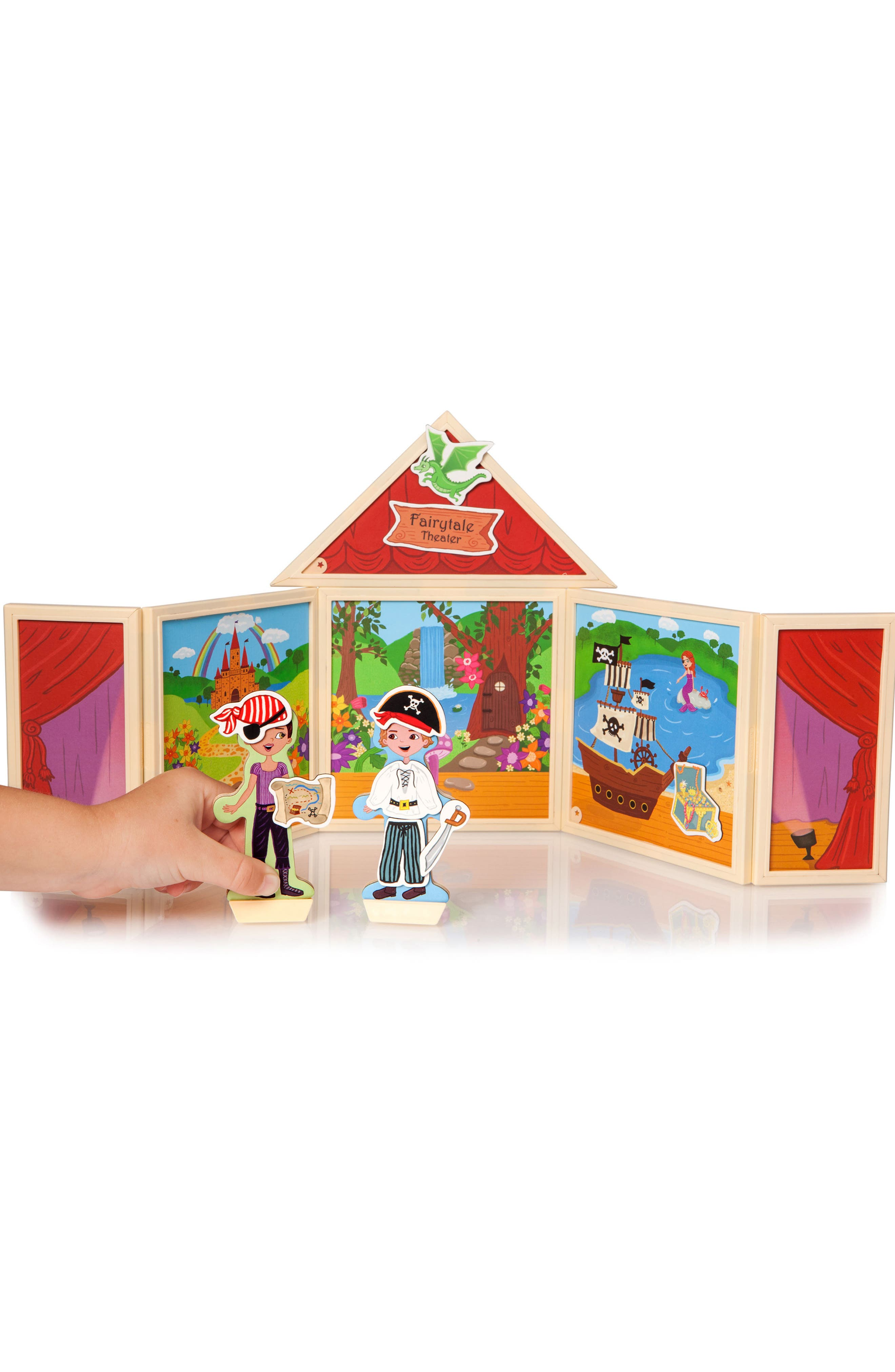 Build and Imagine Fairy Tale Theater 61-Piece Magnetic Dollhouse
