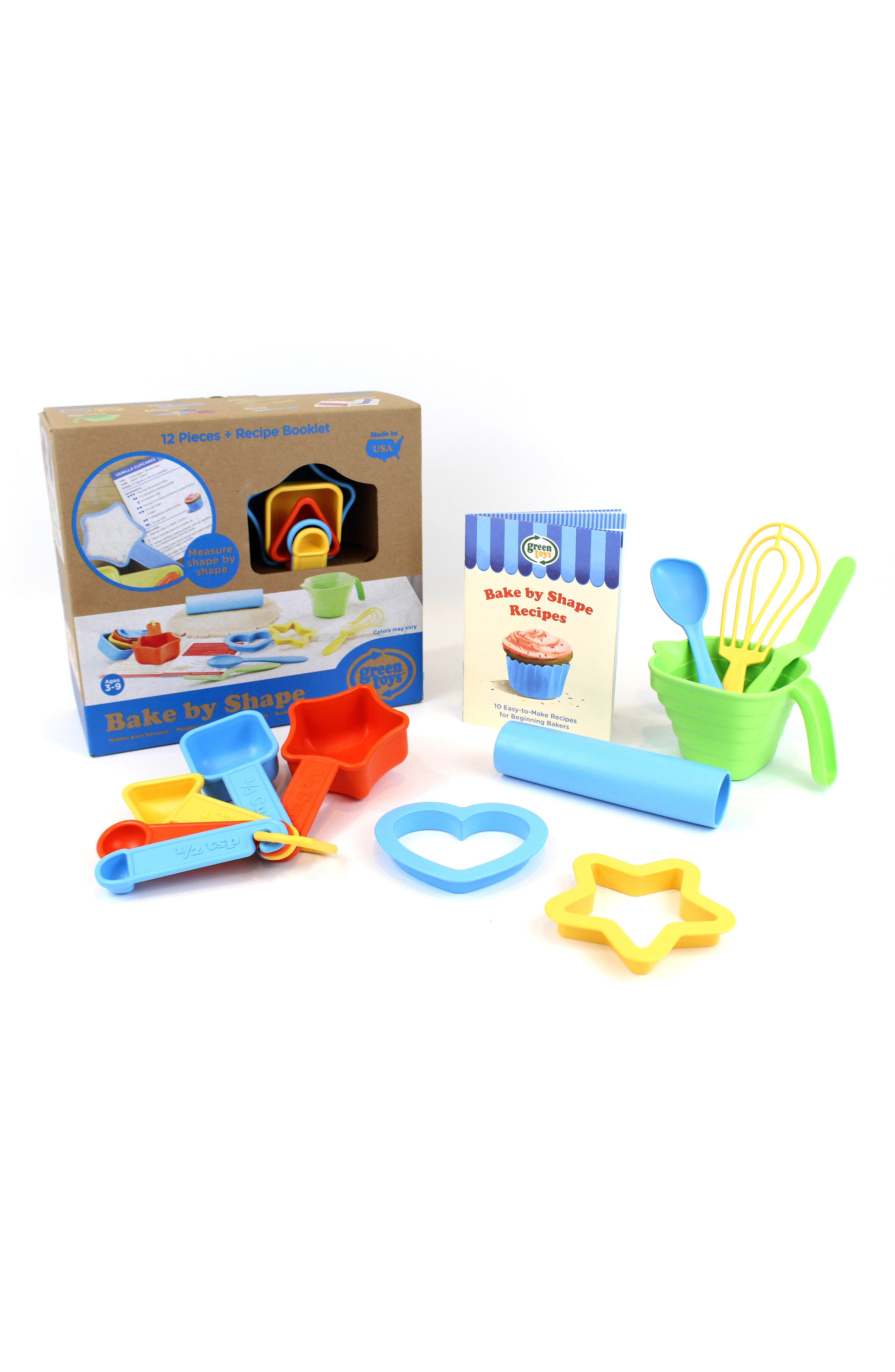 Green Toys 12-Piece Bake by Shape Baking Set