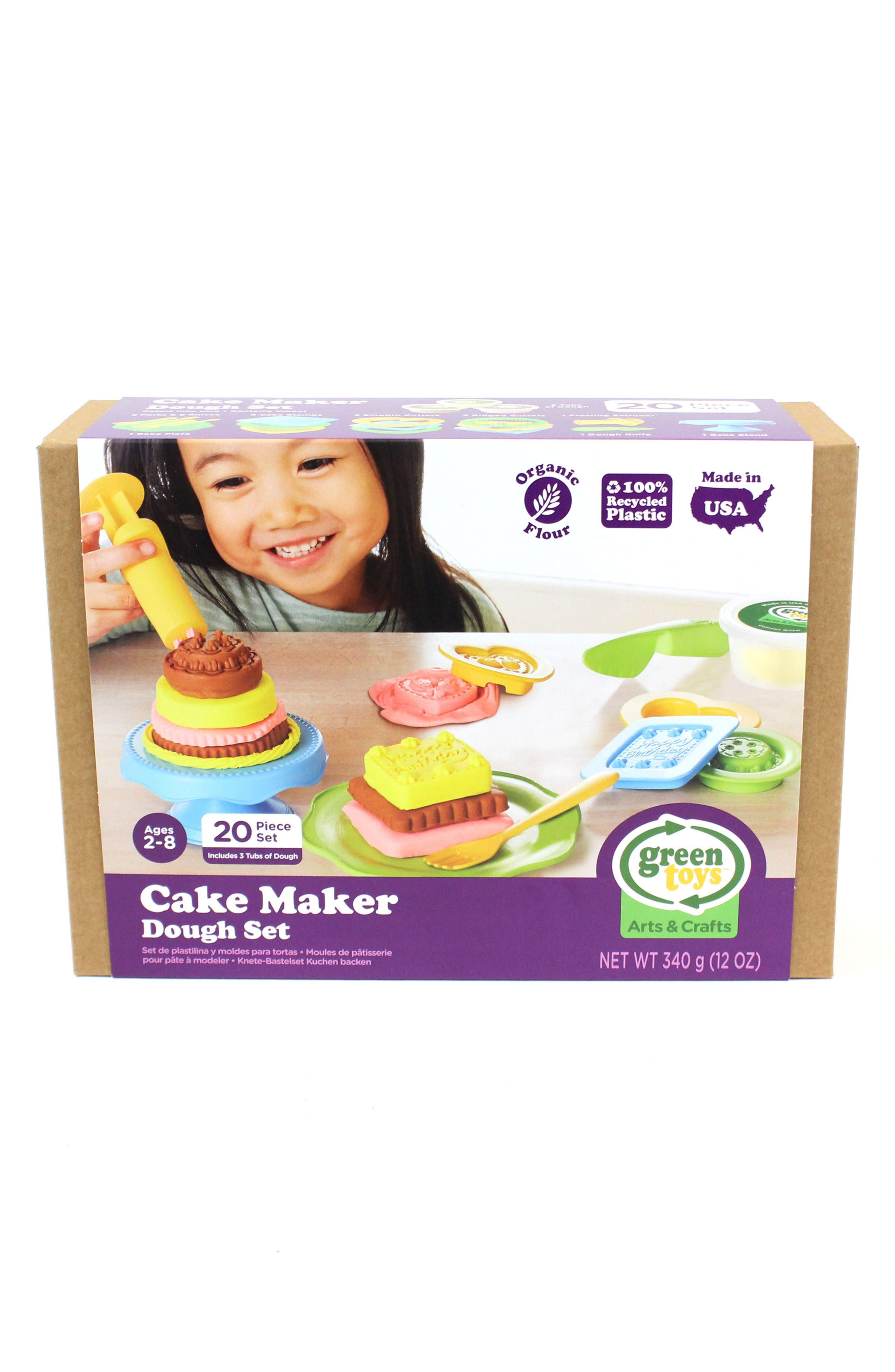 Alternate Image 4  - Green Toys 20-Piece Plastic Cake Maker Dough Set