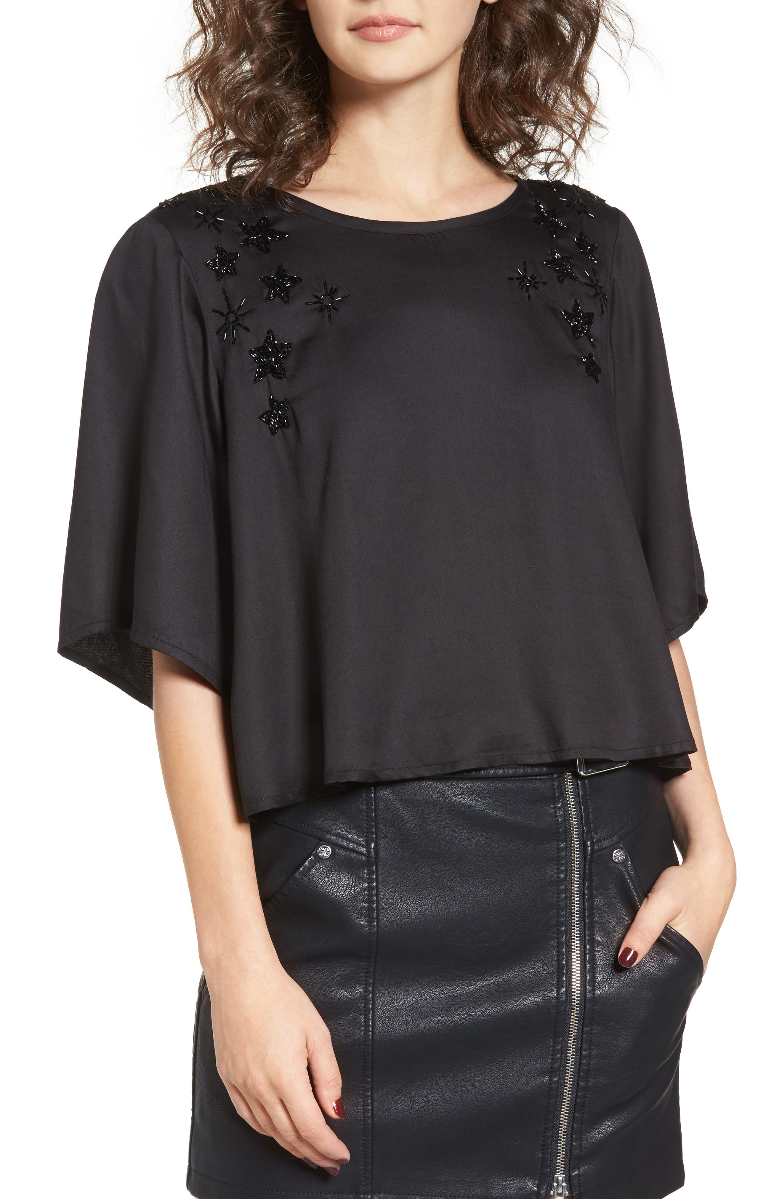Obey Mystic Beaded Star Blouse