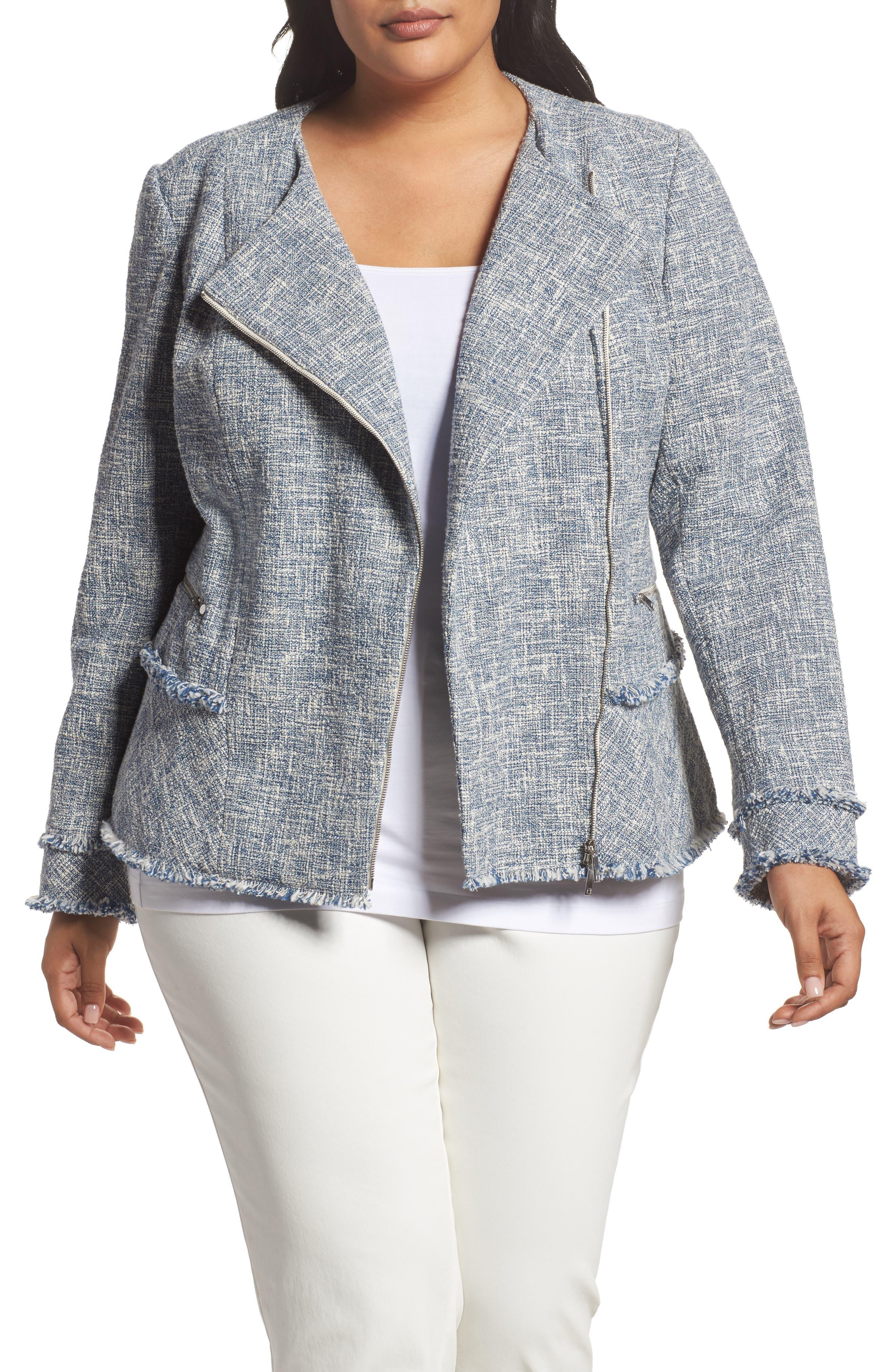 Main Image - Lafayette 148 New York Owen Tweed Jacket (Plus Size)