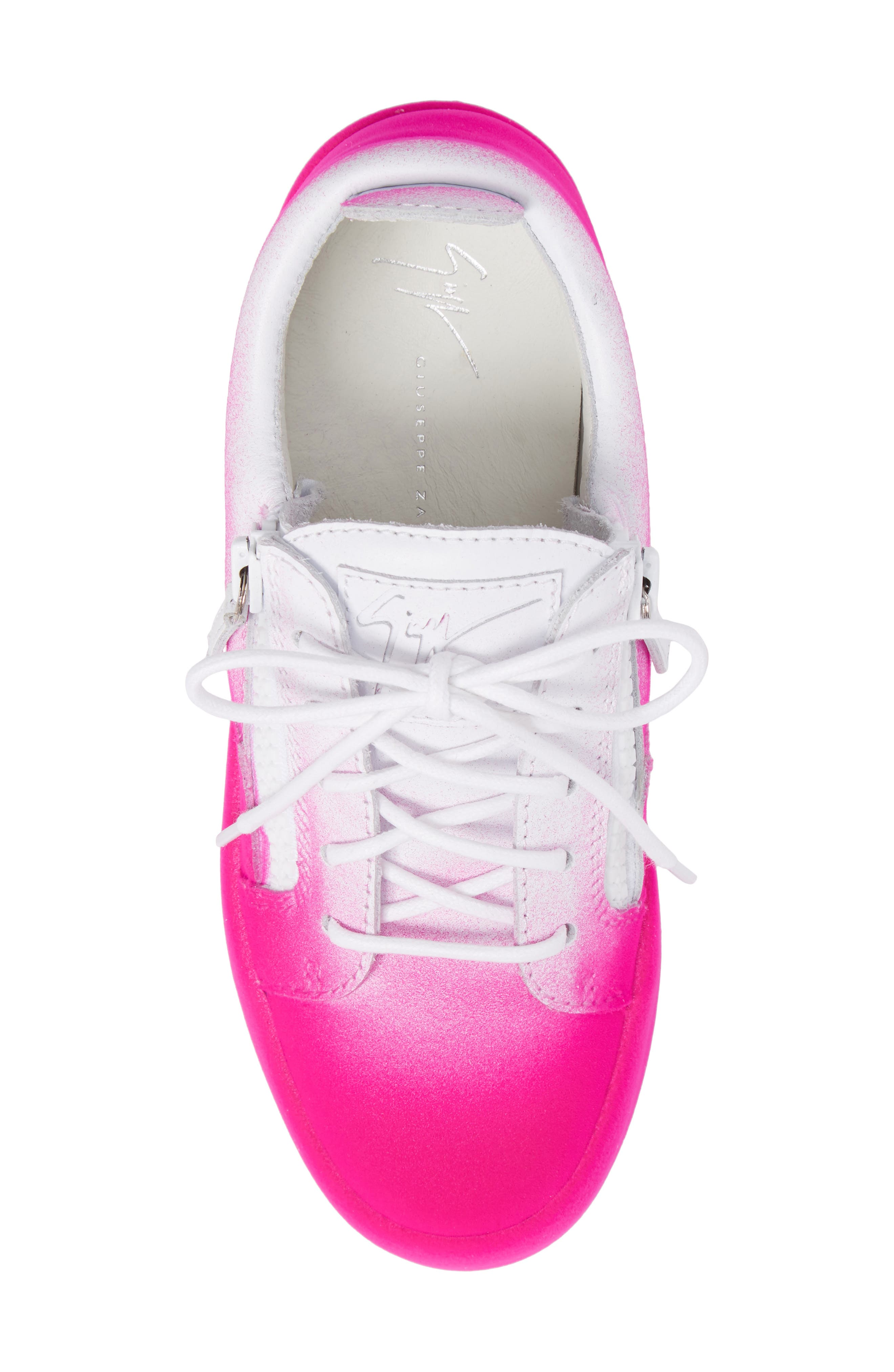 May London Low Top Sneaker,                             Alternate thumbnail 5, color,                             White/ Pink