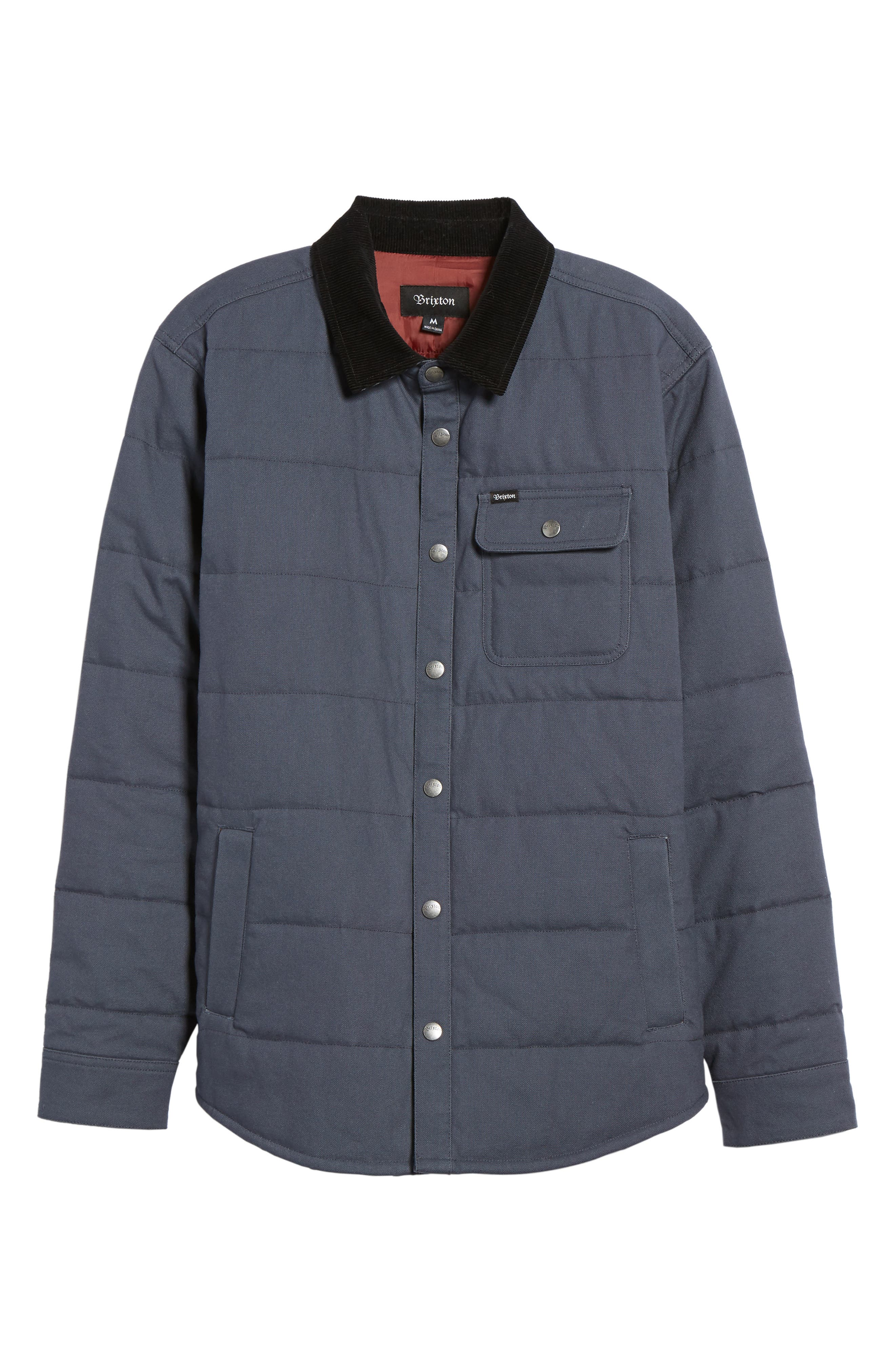 'Cass' Quilted Jacket,                         Main,                         color, Slate Blue