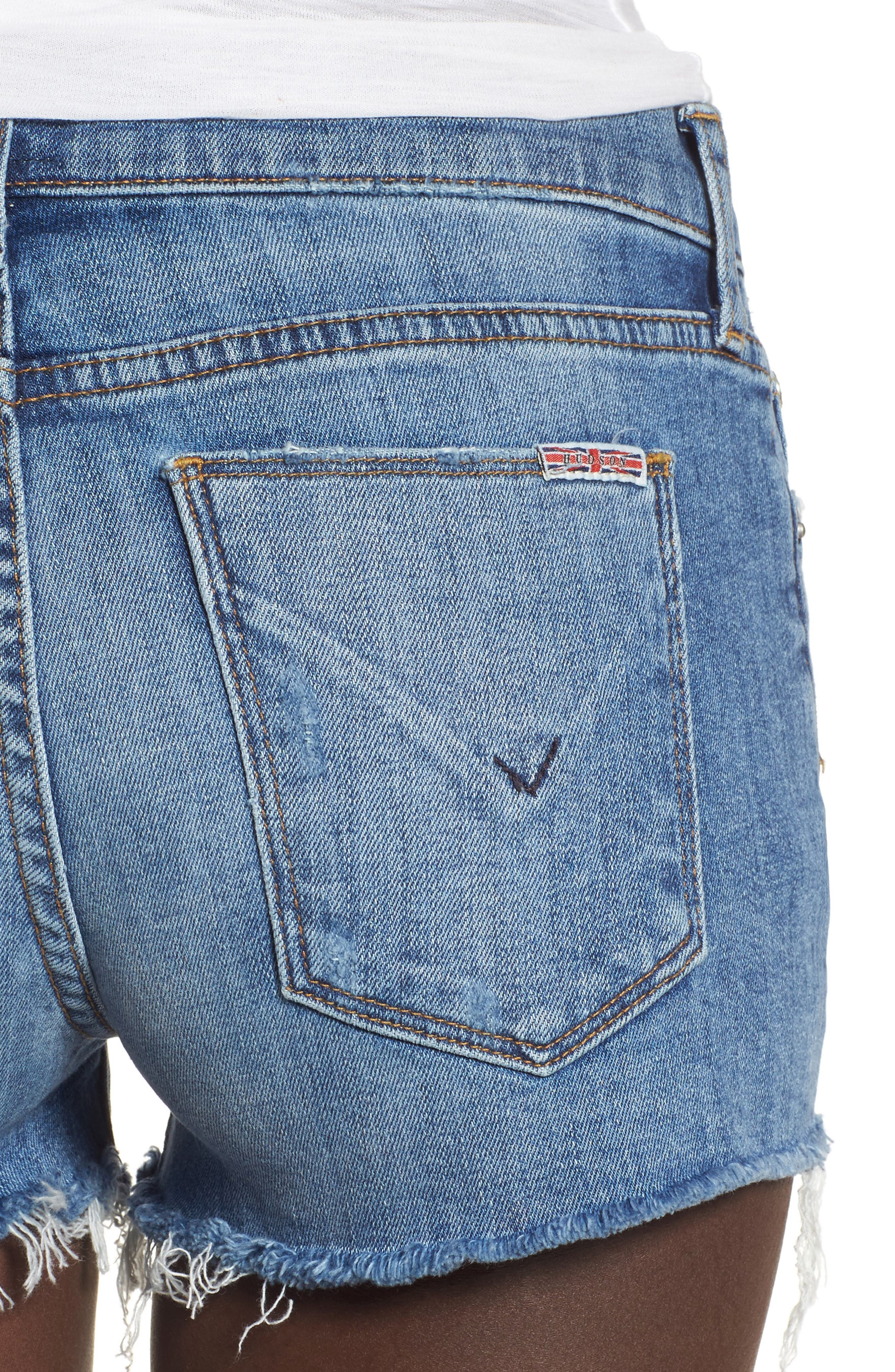 Alternate Image 4  - Hudson Jeans Kenzie Cutoff Denim Shorts