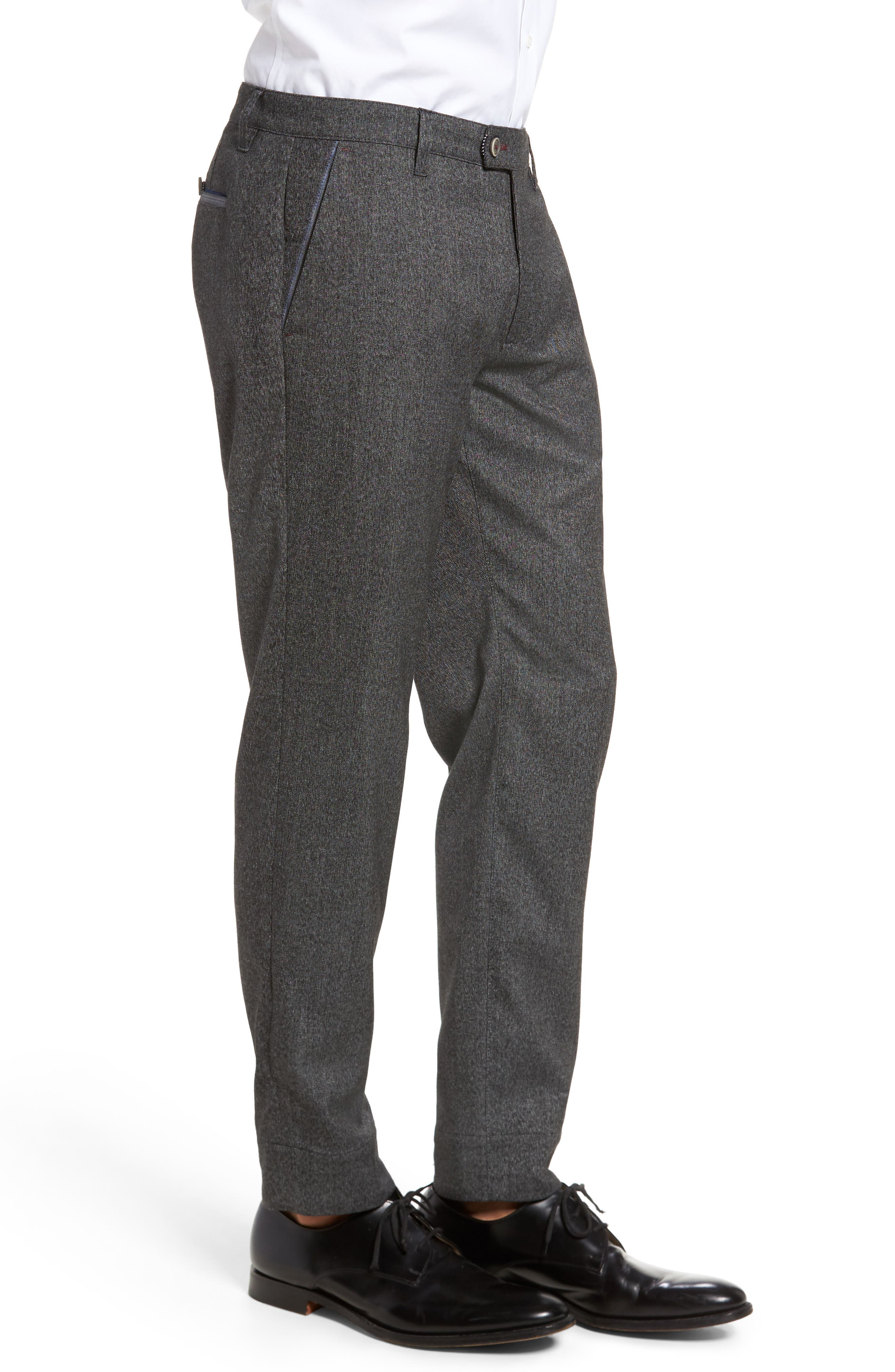 Slim Fit Trousers,                             Alternate thumbnail 5, color,                             Charcoal