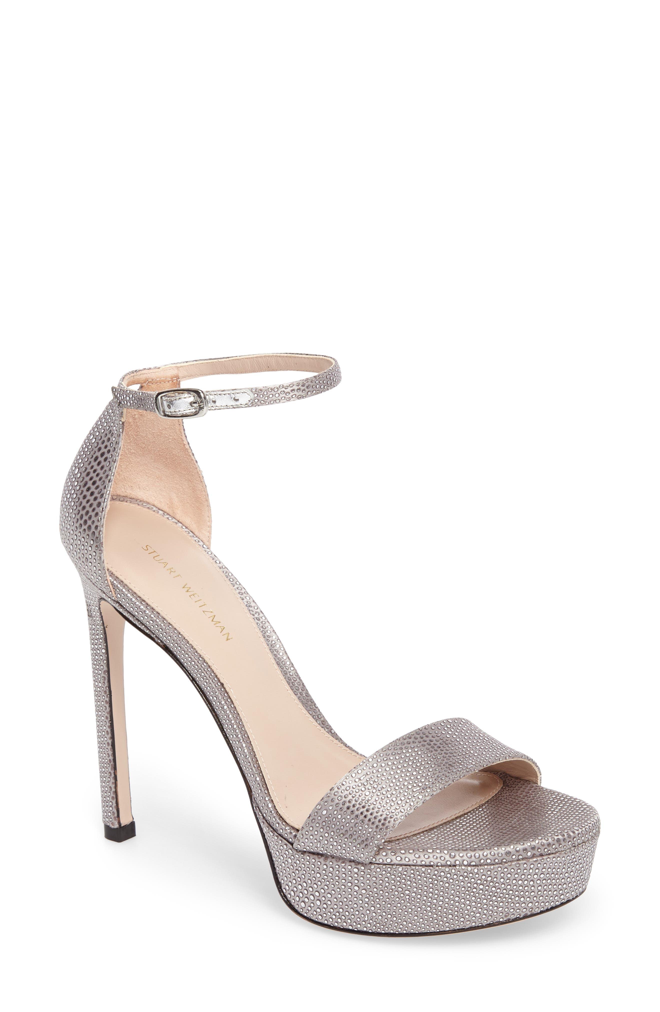 Stuart Weitzman Sohot Crystalline Platform Sandal (Women)