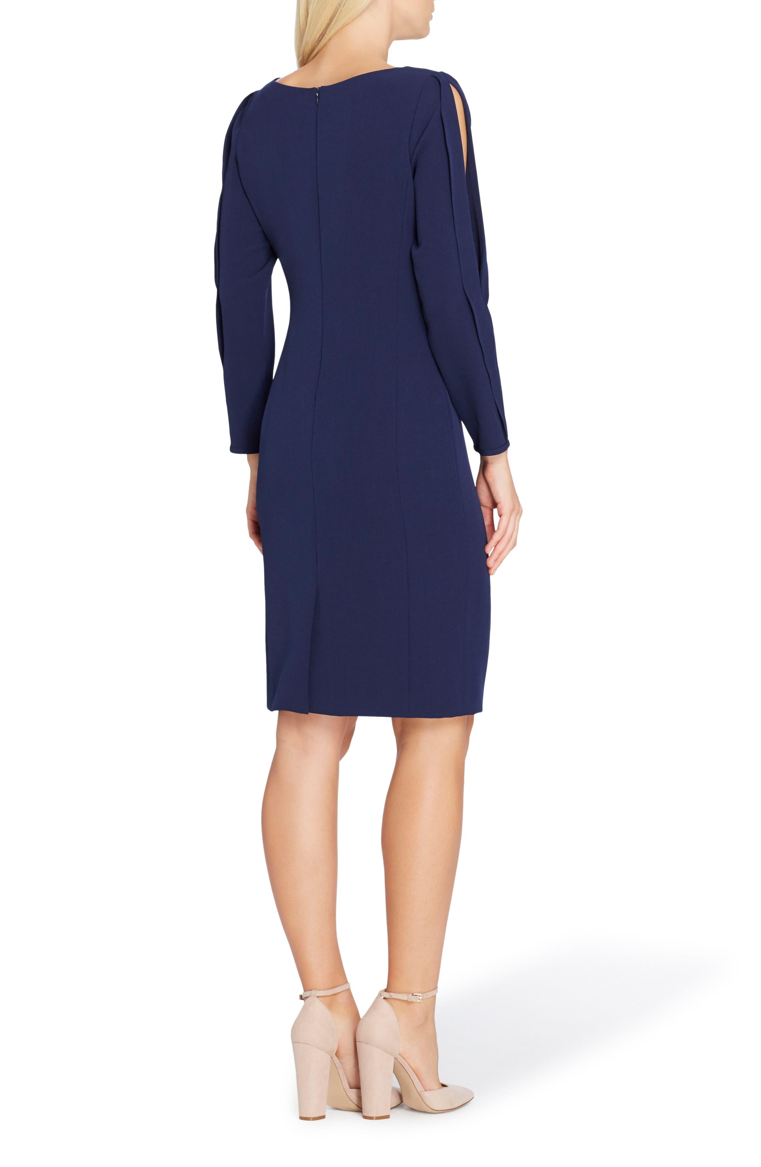 Split Sleeve Sheath Dress,                             Alternate thumbnail 2, color,                             New Blue