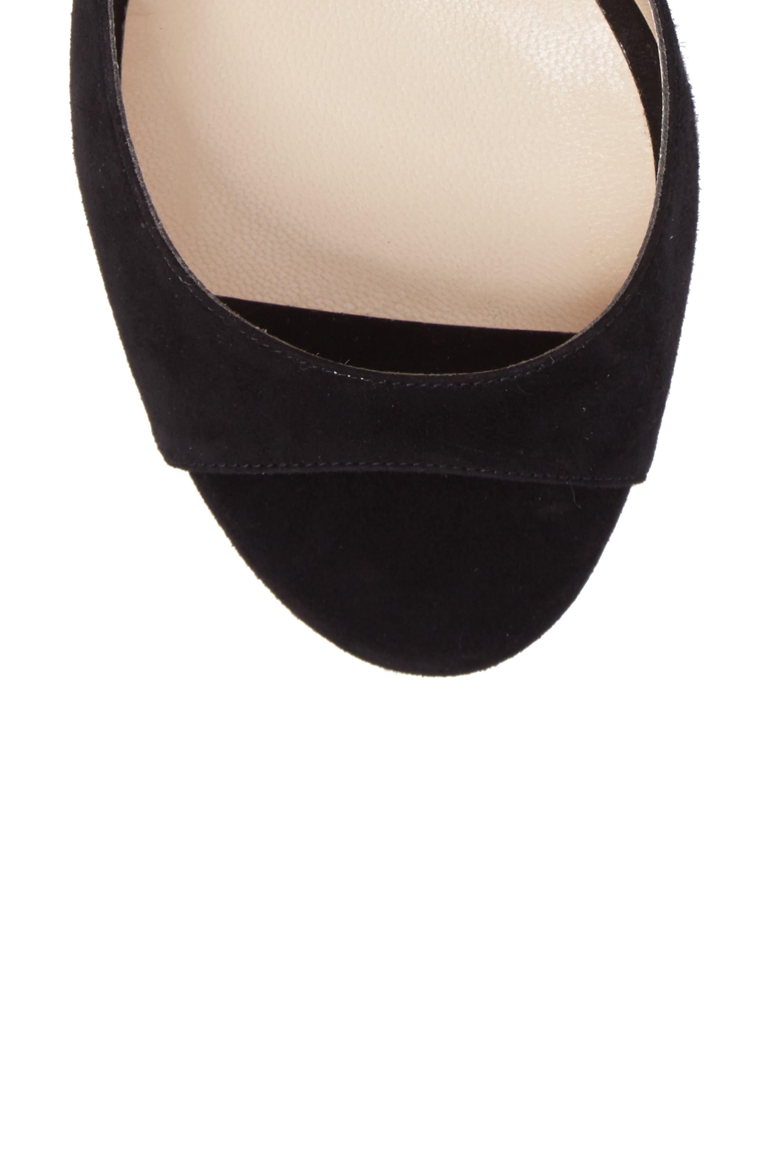 Lane Sandal,                             Alternate thumbnail 5, color,                             Black