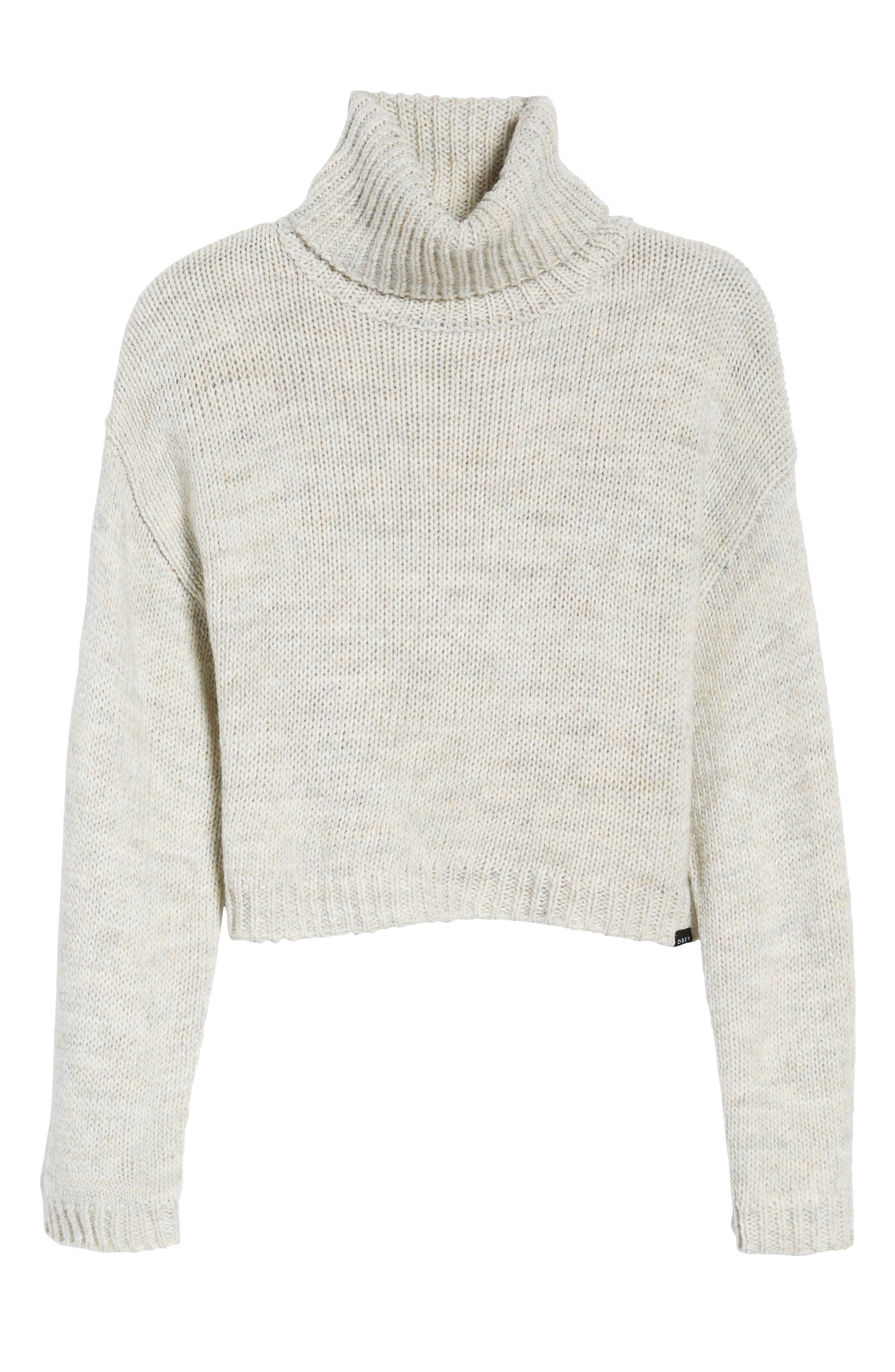 Skelter Turtleneck Sweater,                             Alternate thumbnail 6, color,                             Heather Grey