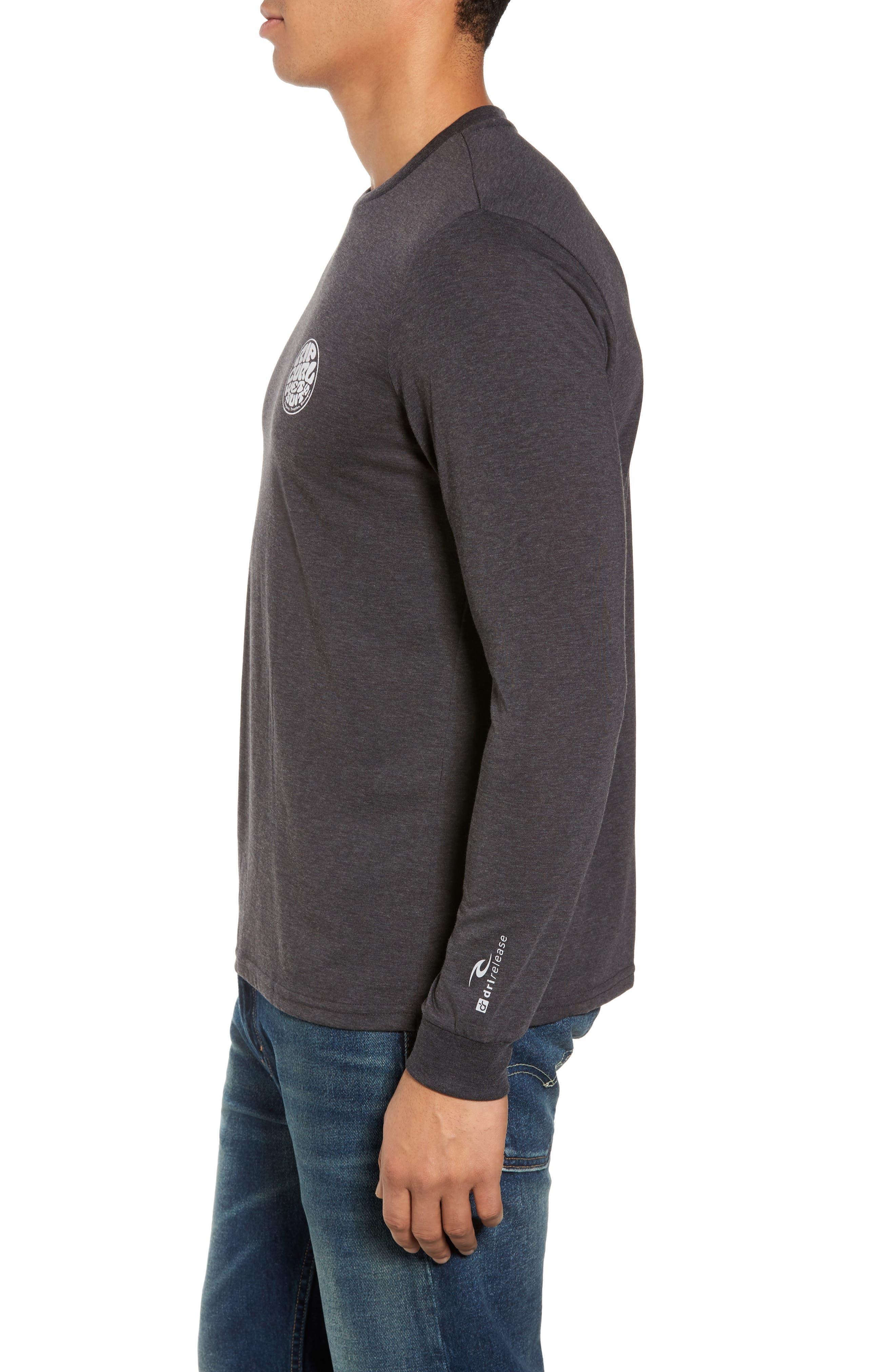 Mini Wettie Tech T-Shirt,                             Alternate thumbnail 3, color,                             Charcoal