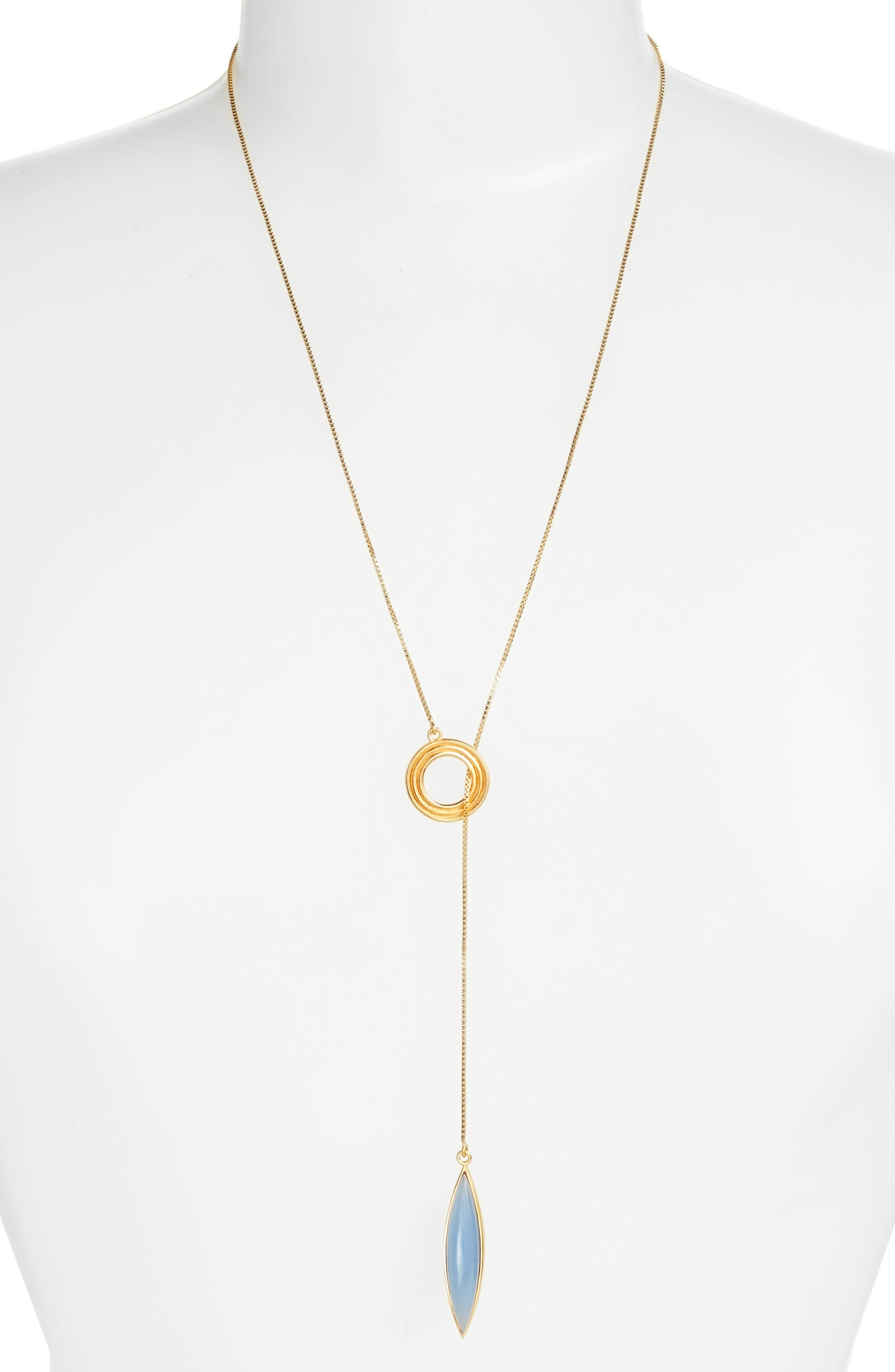 Dean Davidson Zaha Lariat Pendant Necklace