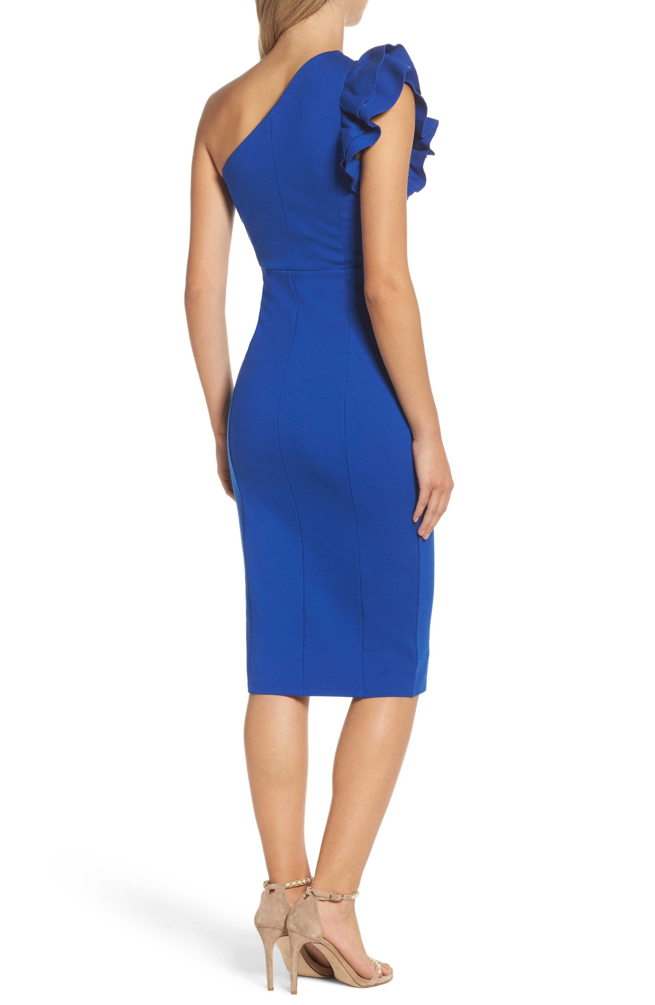 Alternate Image 2  - Felicity & Coco Marilyn One-Shoulder Sheath Dress (Nordstrom Exclusive)