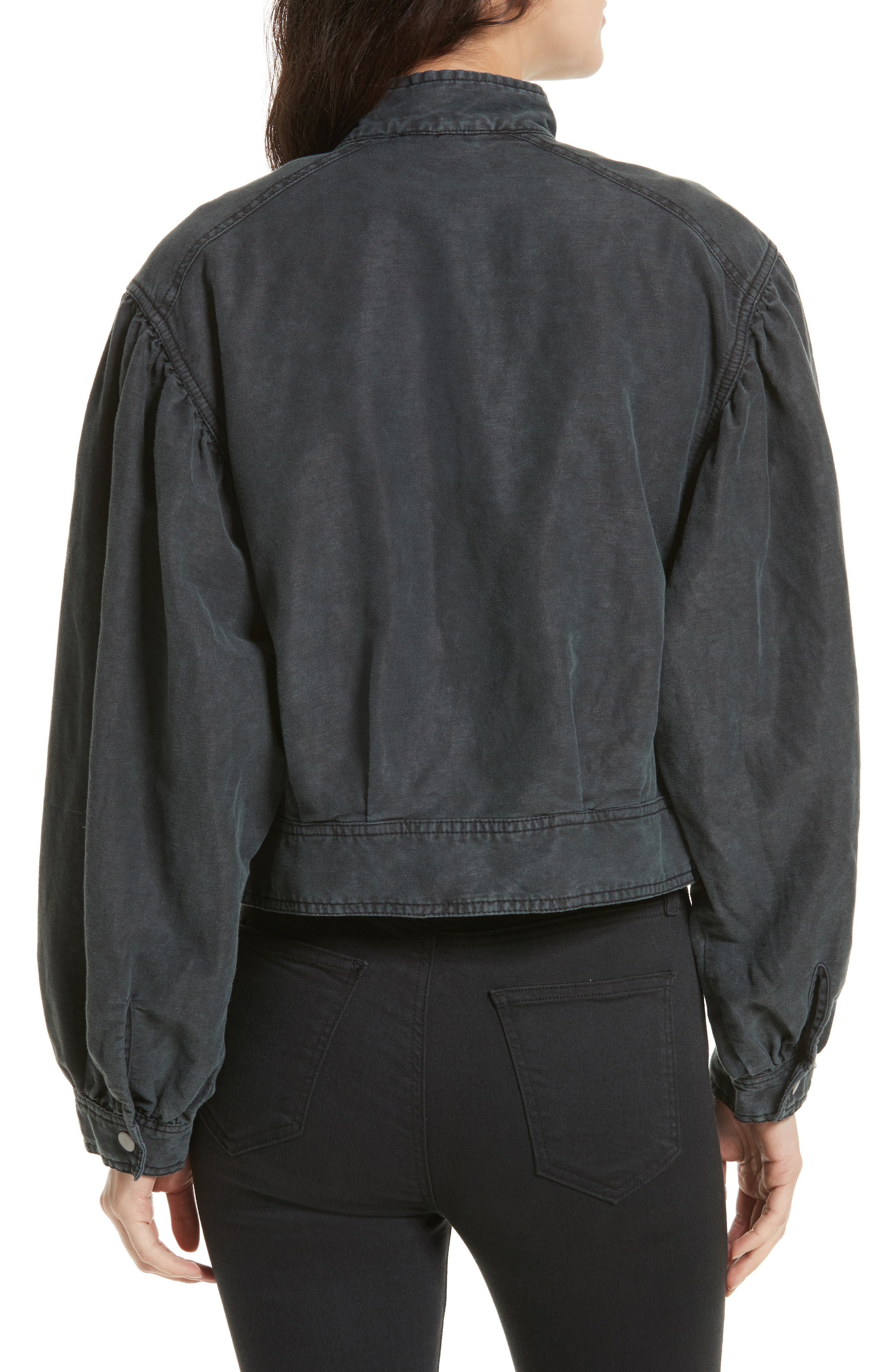 Poet Jacket,                             Alternate thumbnail 3, color,                             Black