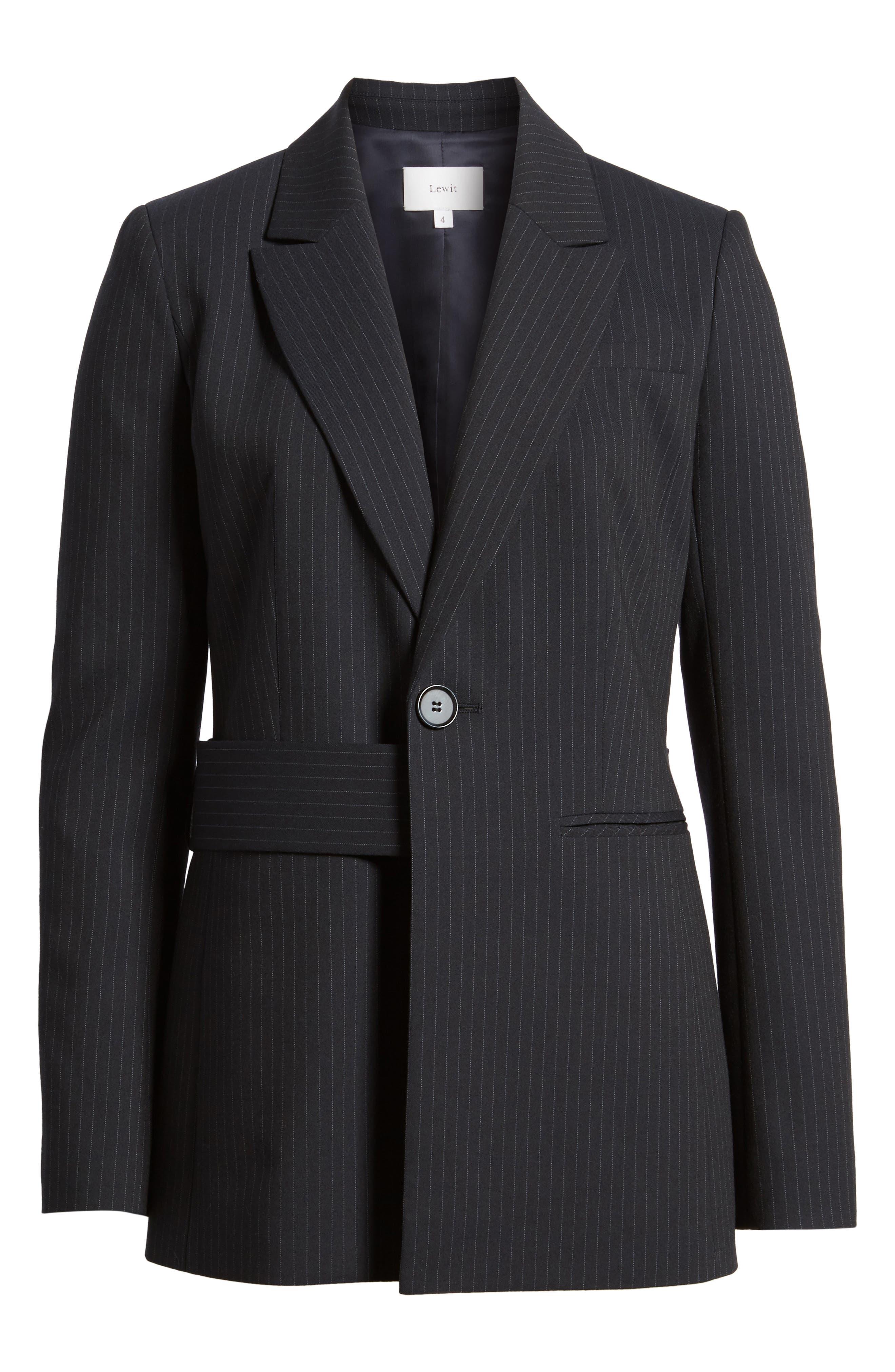 Pinstripe Suit Jacket,                             Alternate thumbnail 7, color,                             Navy Night Pinstripe