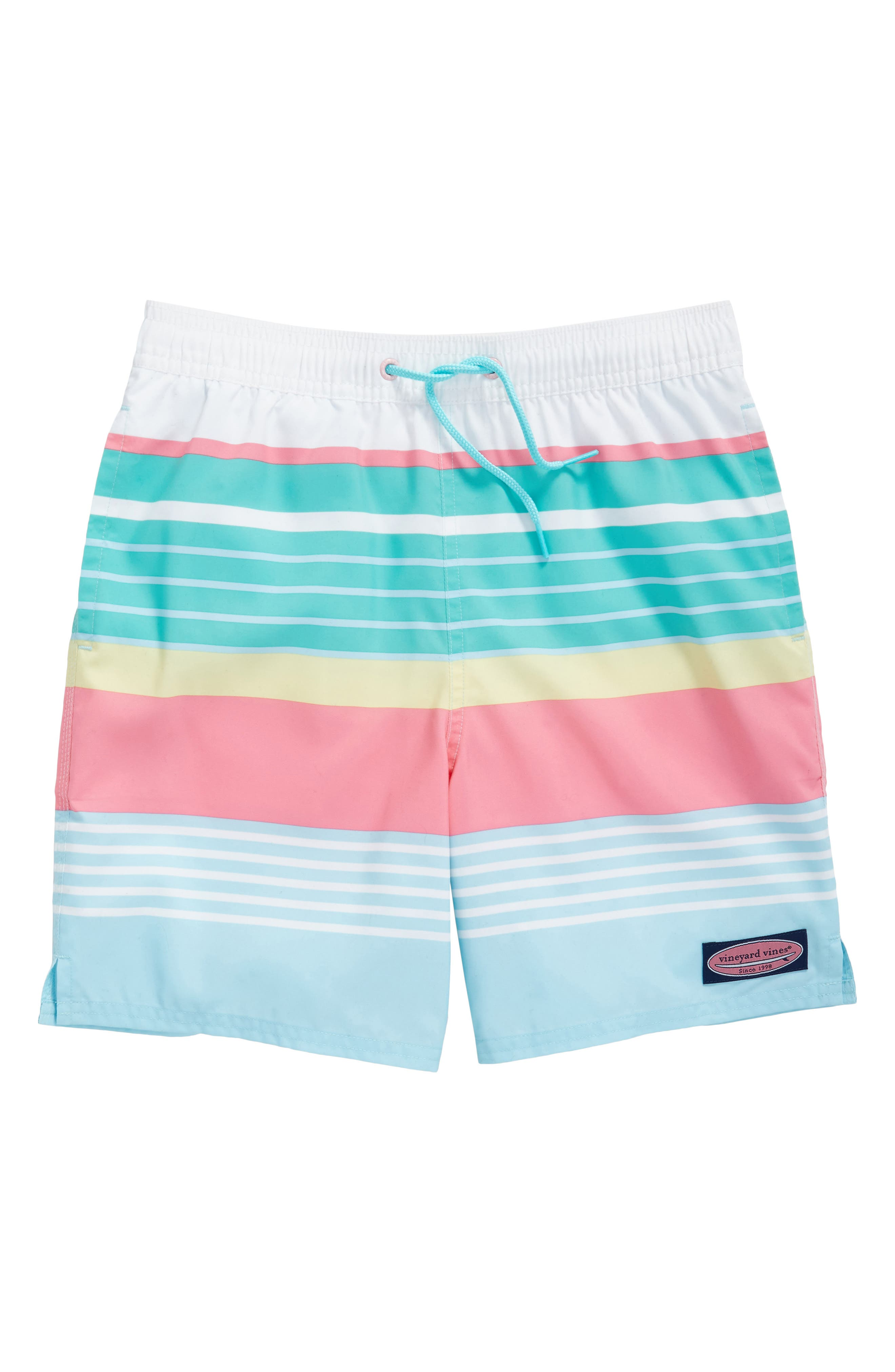 vineyard vines Boca Bay Stripe Chappy Swim Trunks (Toddler Boys & Little Boys)