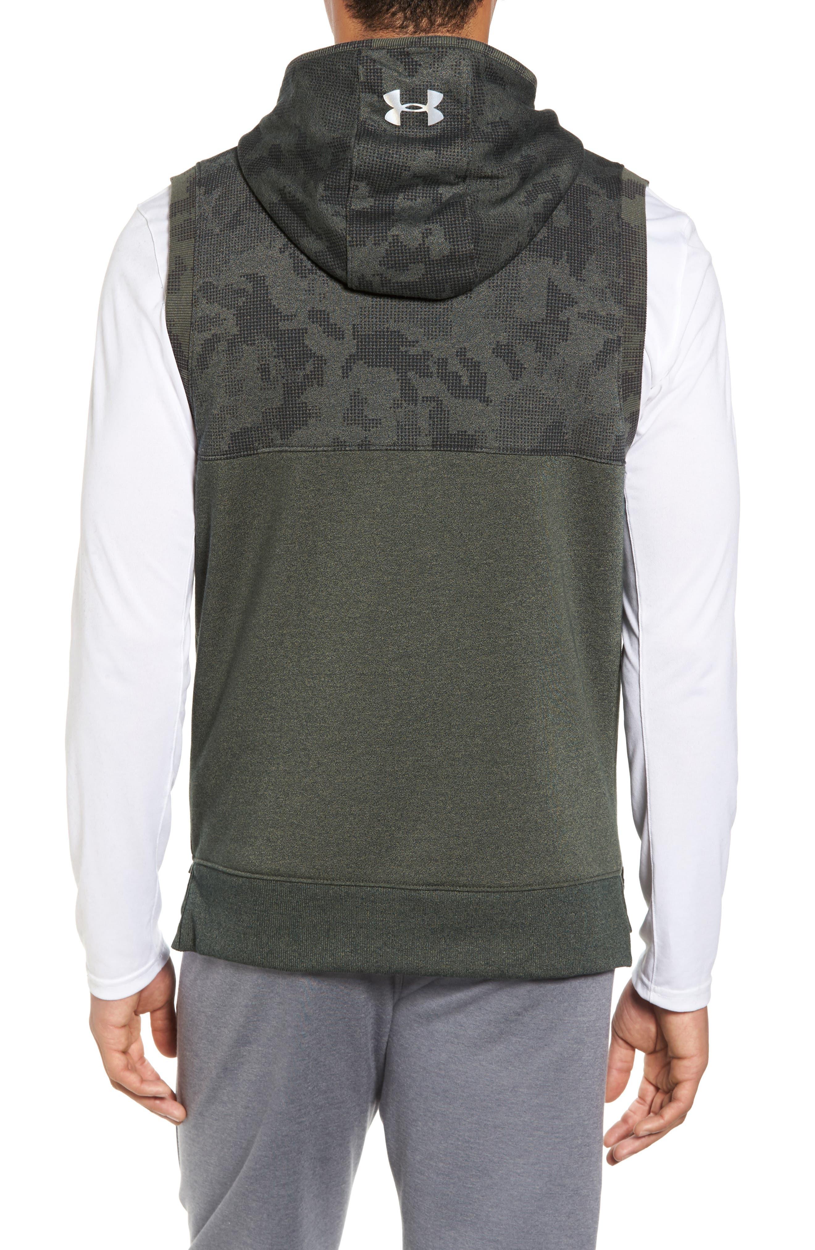 Threadborne Hooded Vest,                             Alternate thumbnail 2, color,                             Downtown Green / Refletive