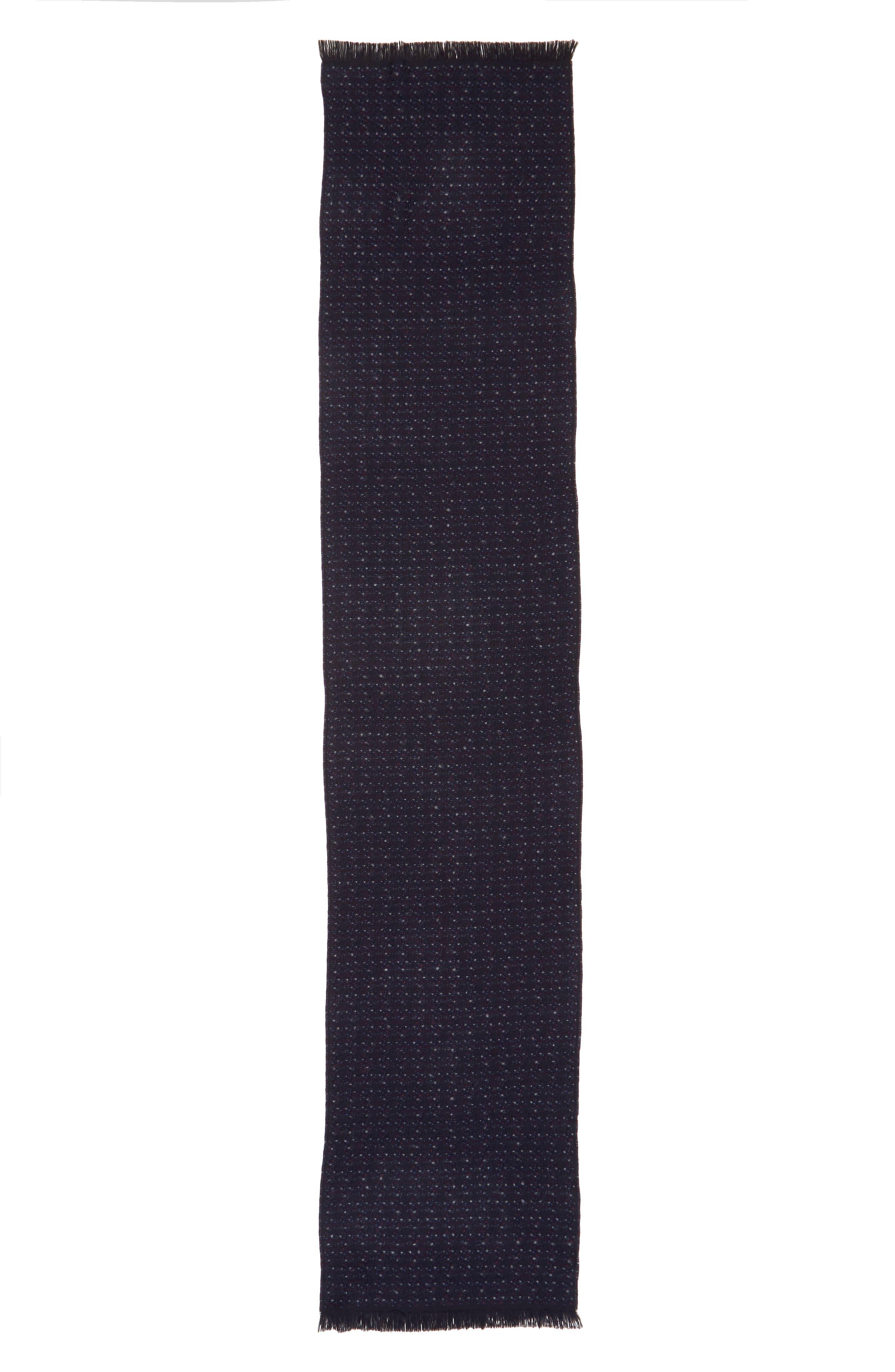 Alternate Image 2  - Canali Dot Wool Blend Scarf