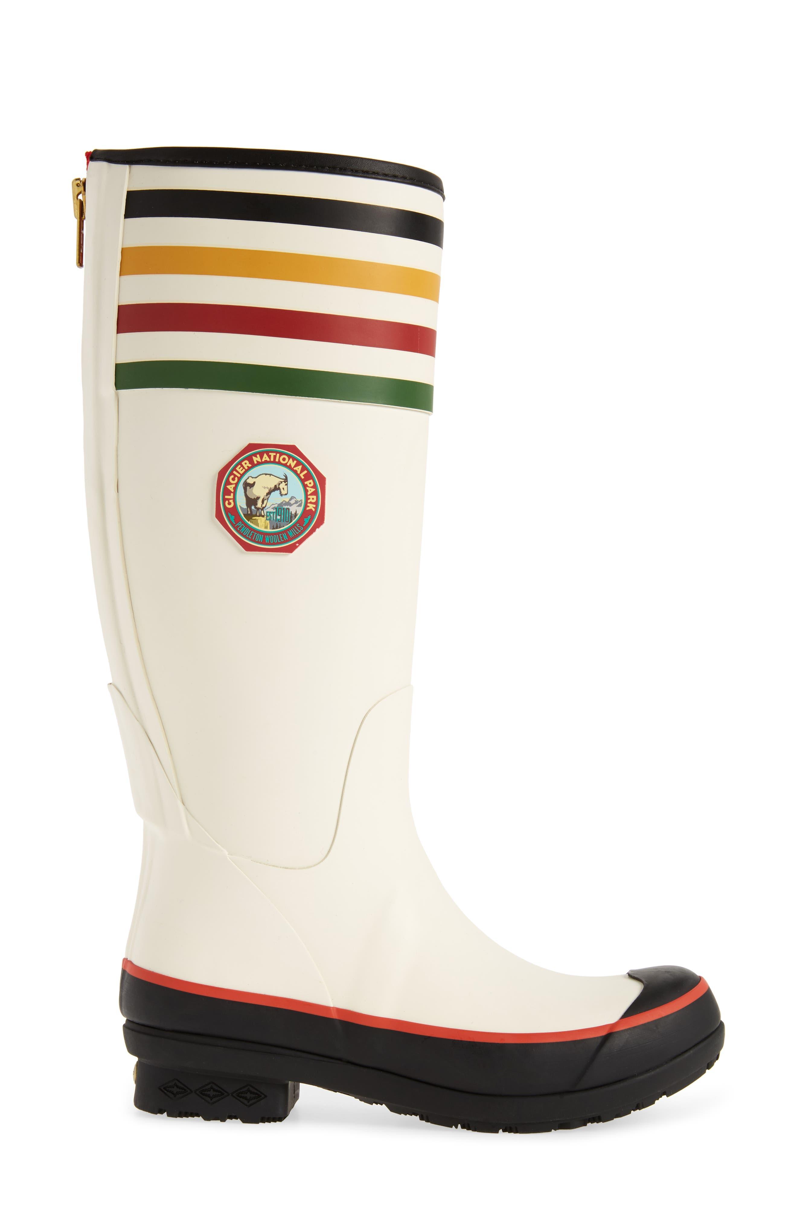 Pendleton Glacier National Park Tall Rain Boot,                             Alternate thumbnail 3, color,                             White