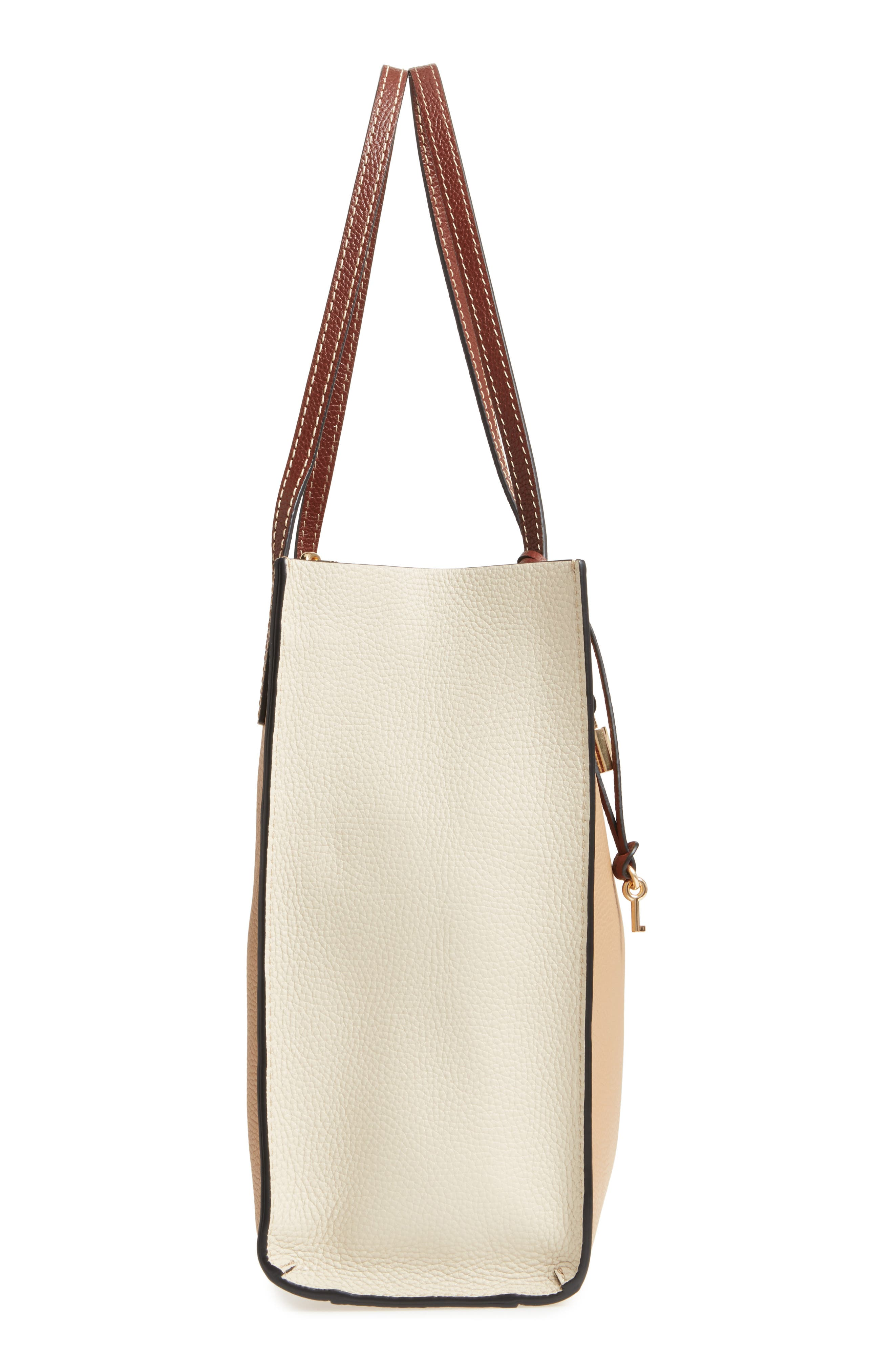 The Grind Colorblock Leather Tote,                             Alternate thumbnail 5, color,                             Natural Multi