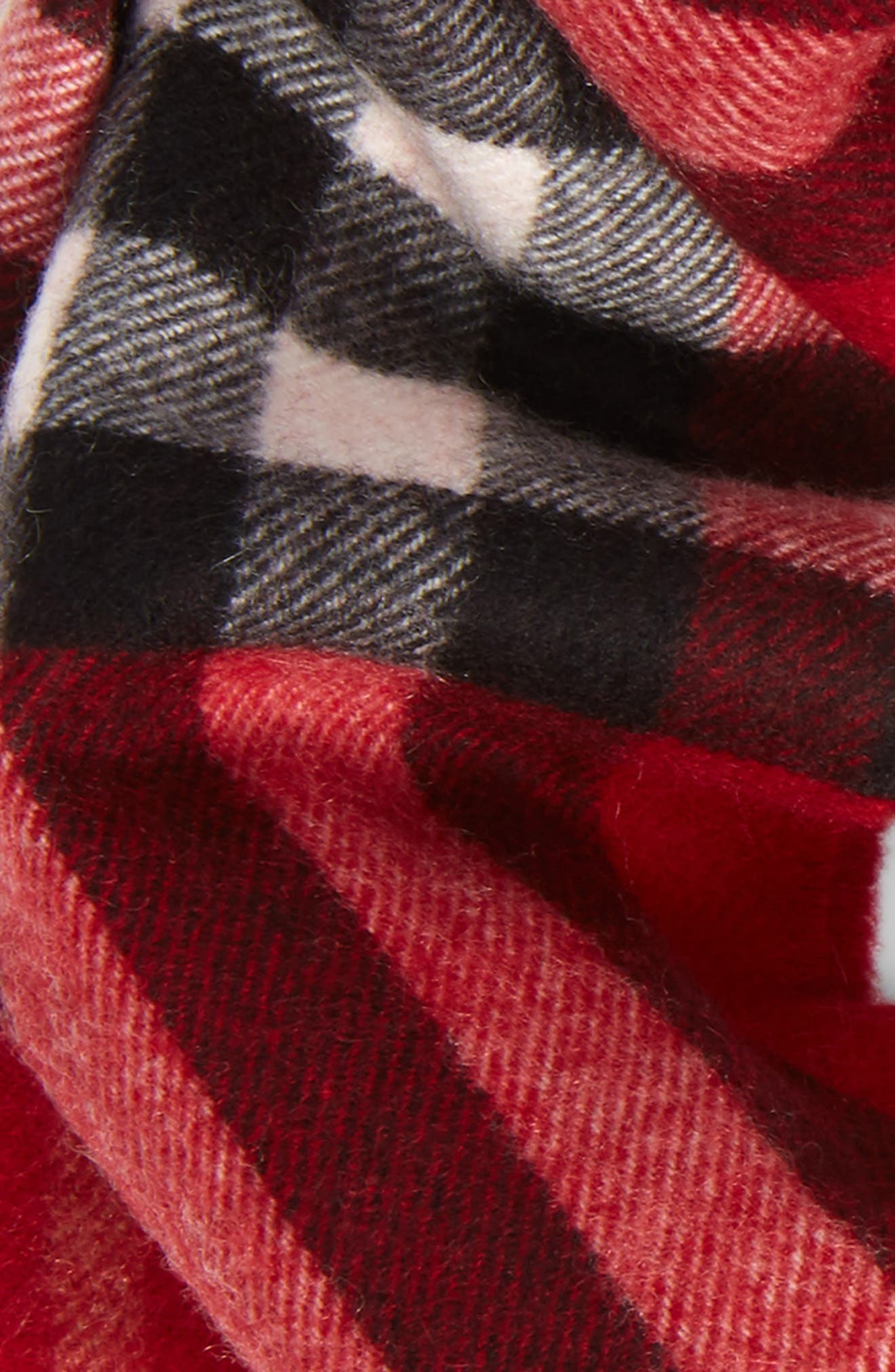 Cashmere Snood,                             Alternate thumbnail 2, color,                             Parade Red