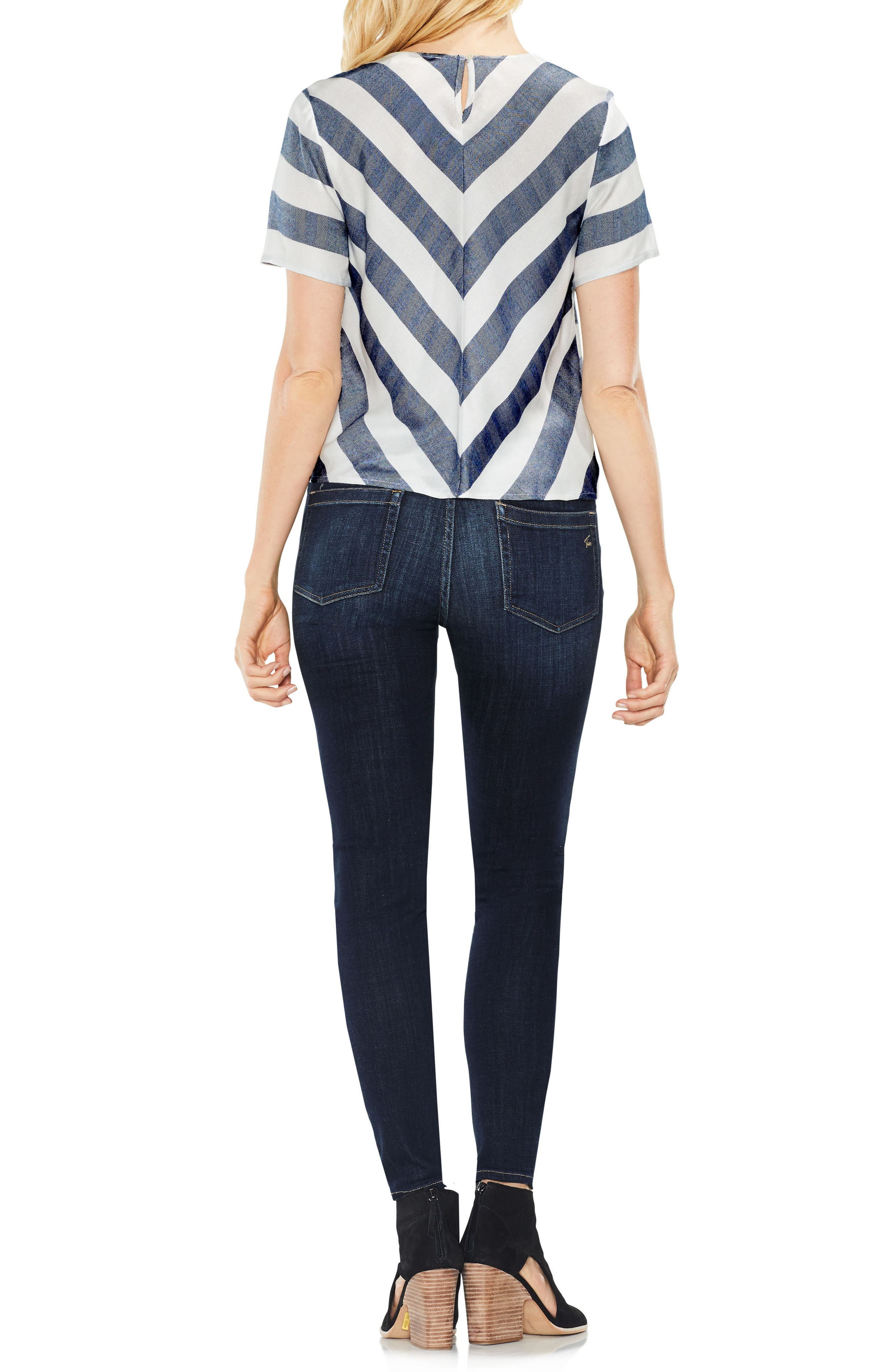 Alternate Image 3  - Two by Vince Camuto Refined Herringbone Top