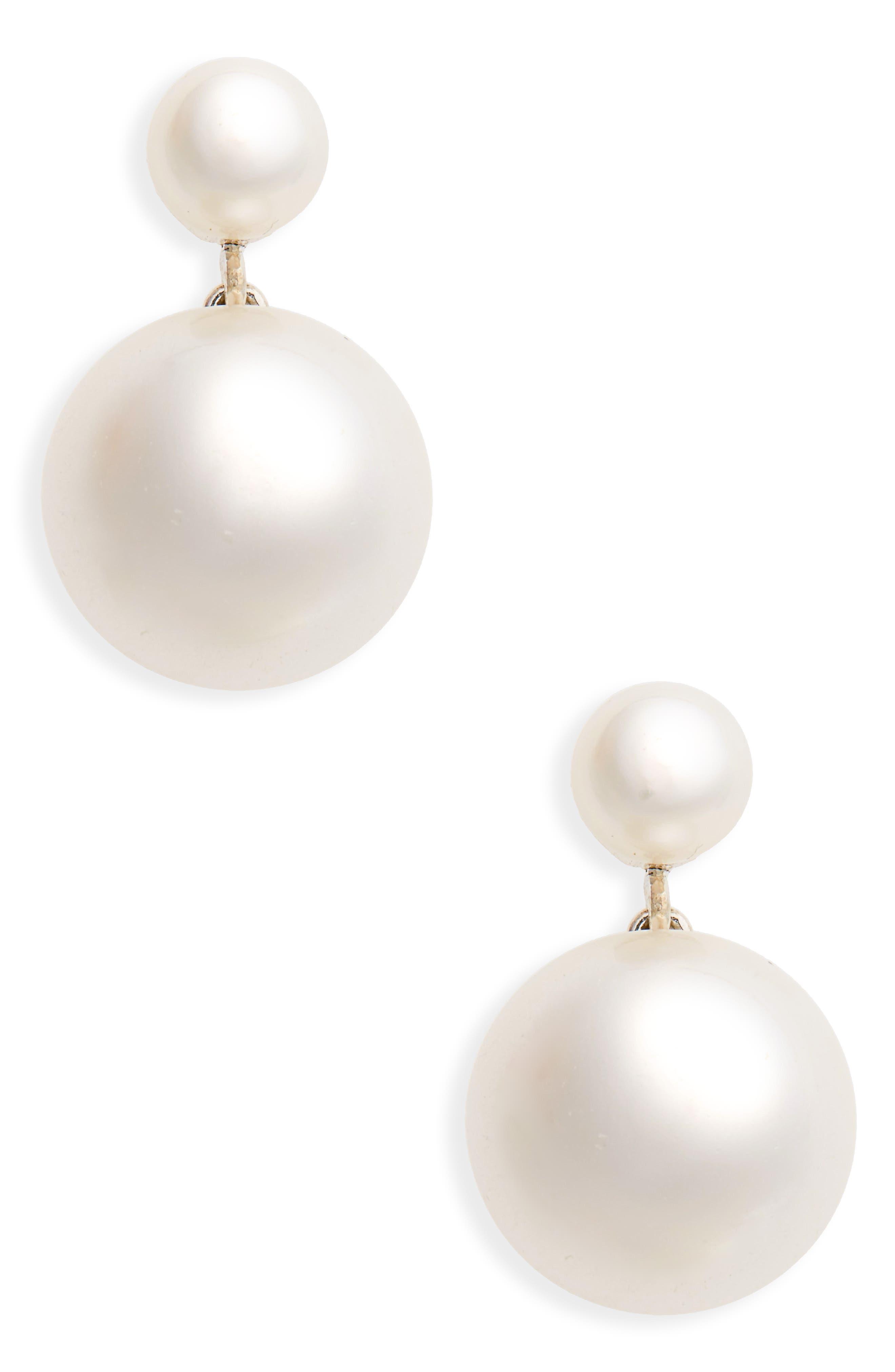Sophie Buhai Small Diana Imitation Pearl Drop Earrings