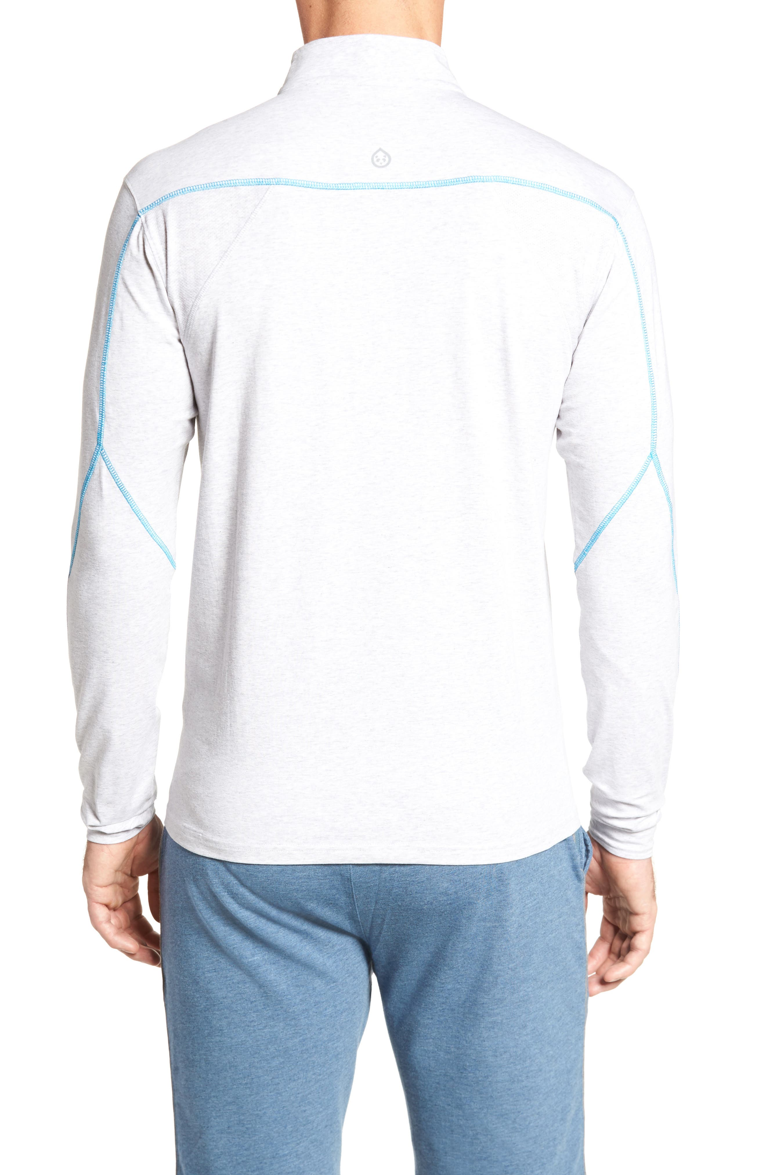 Charge Quarter-Zip Pullover,                             Alternate thumbnail 2, color,                             Light Heather Gray