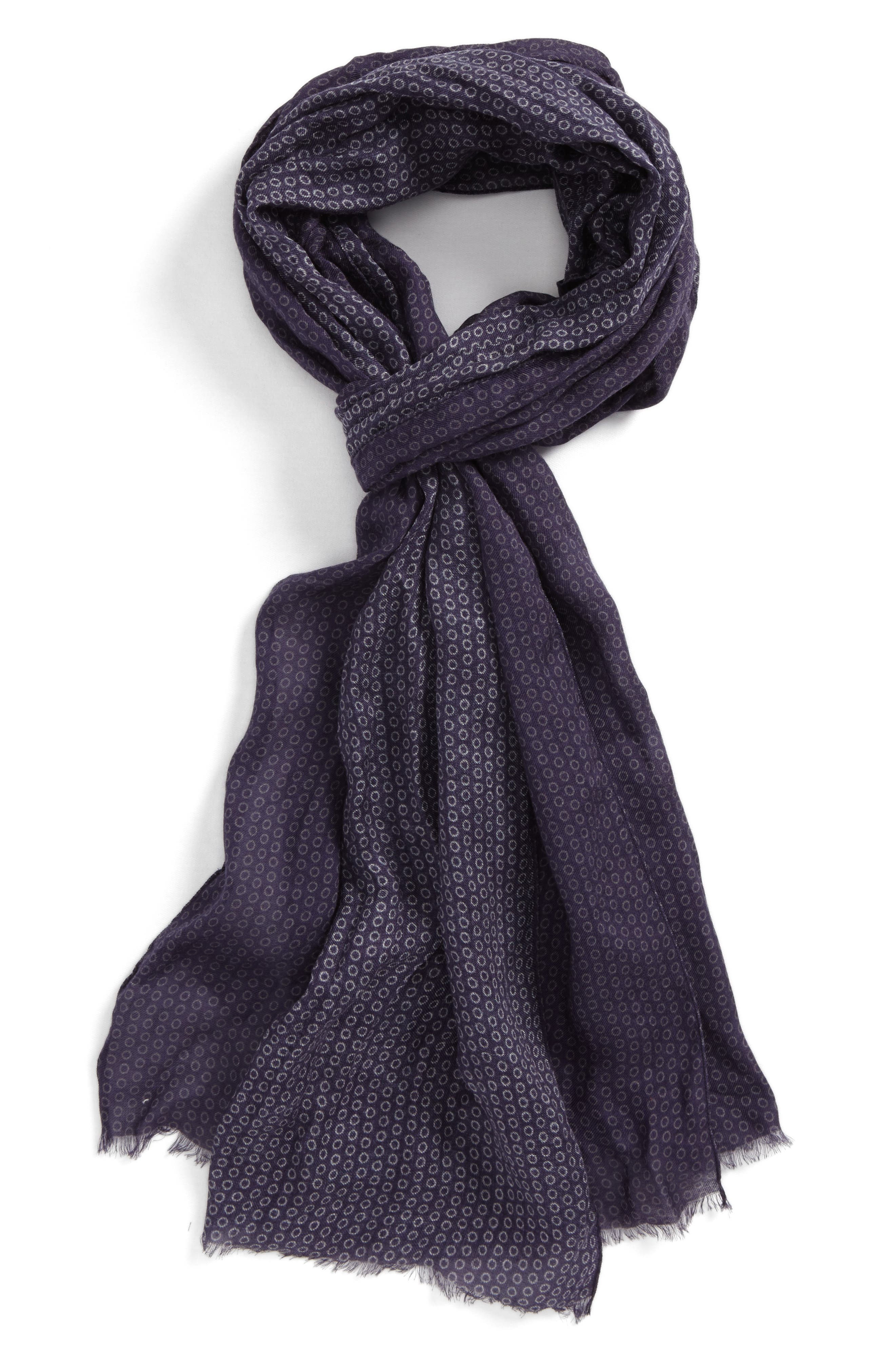 Crinkled Dot Modal & Wool Scarf,                             Main thumbnail 1, color,                             Antique Purple