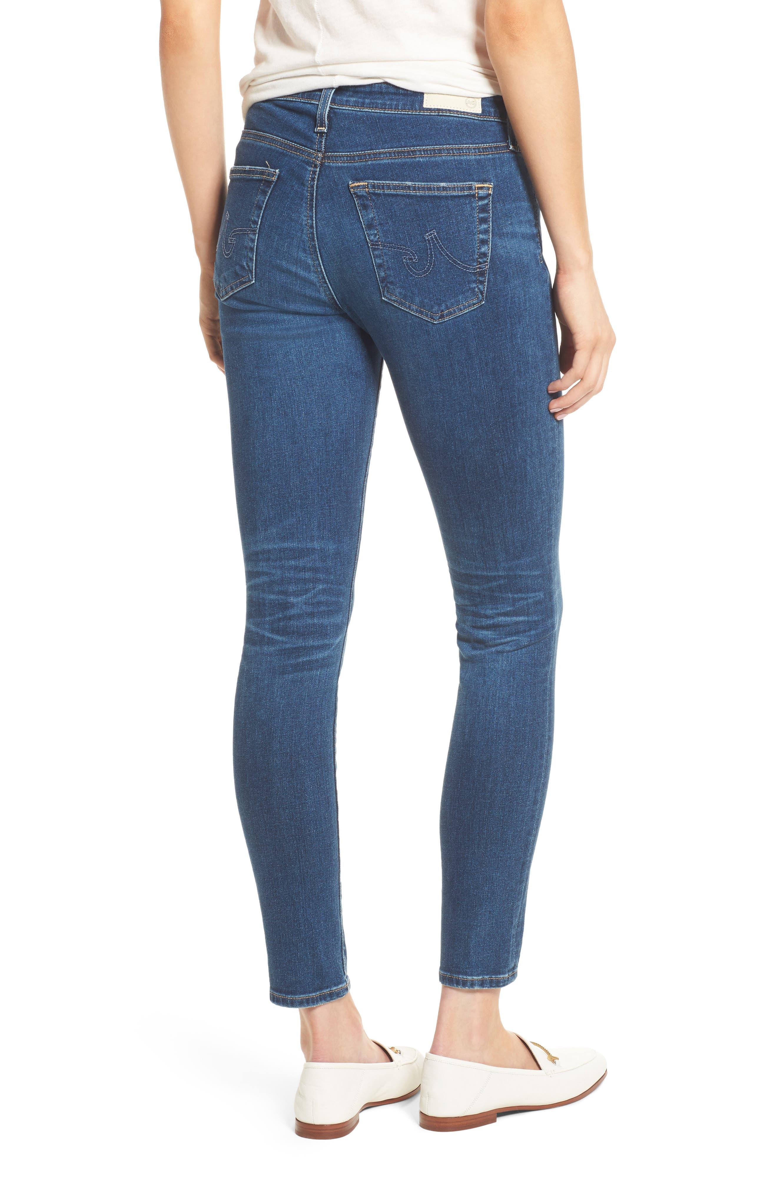 Alternate Image 2  - AG The Legging Ankle Super Skinny Jeans
