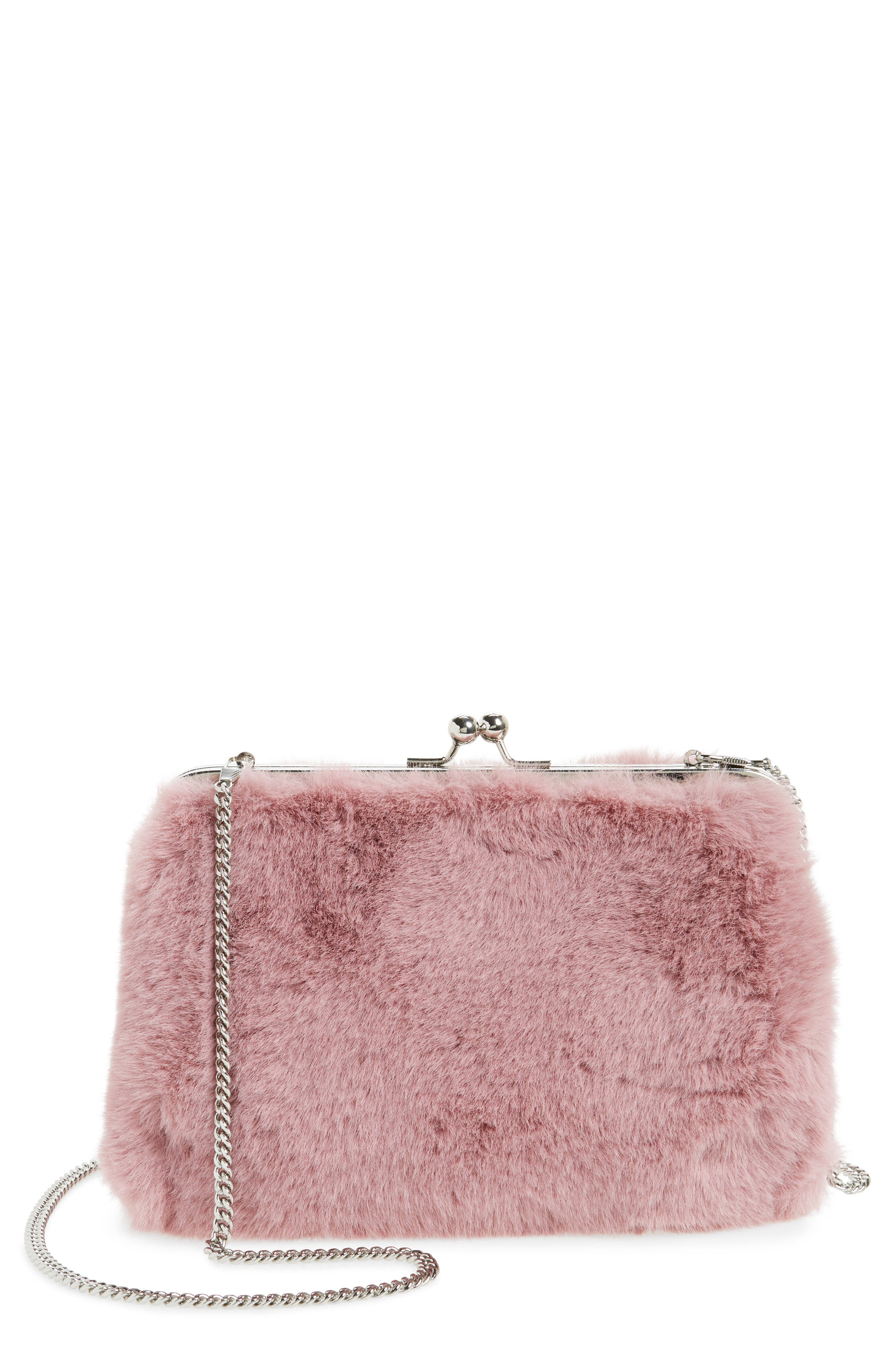 Alternate Image 1 Selected - Chelsea28 Jagger Faux Fur Clutch