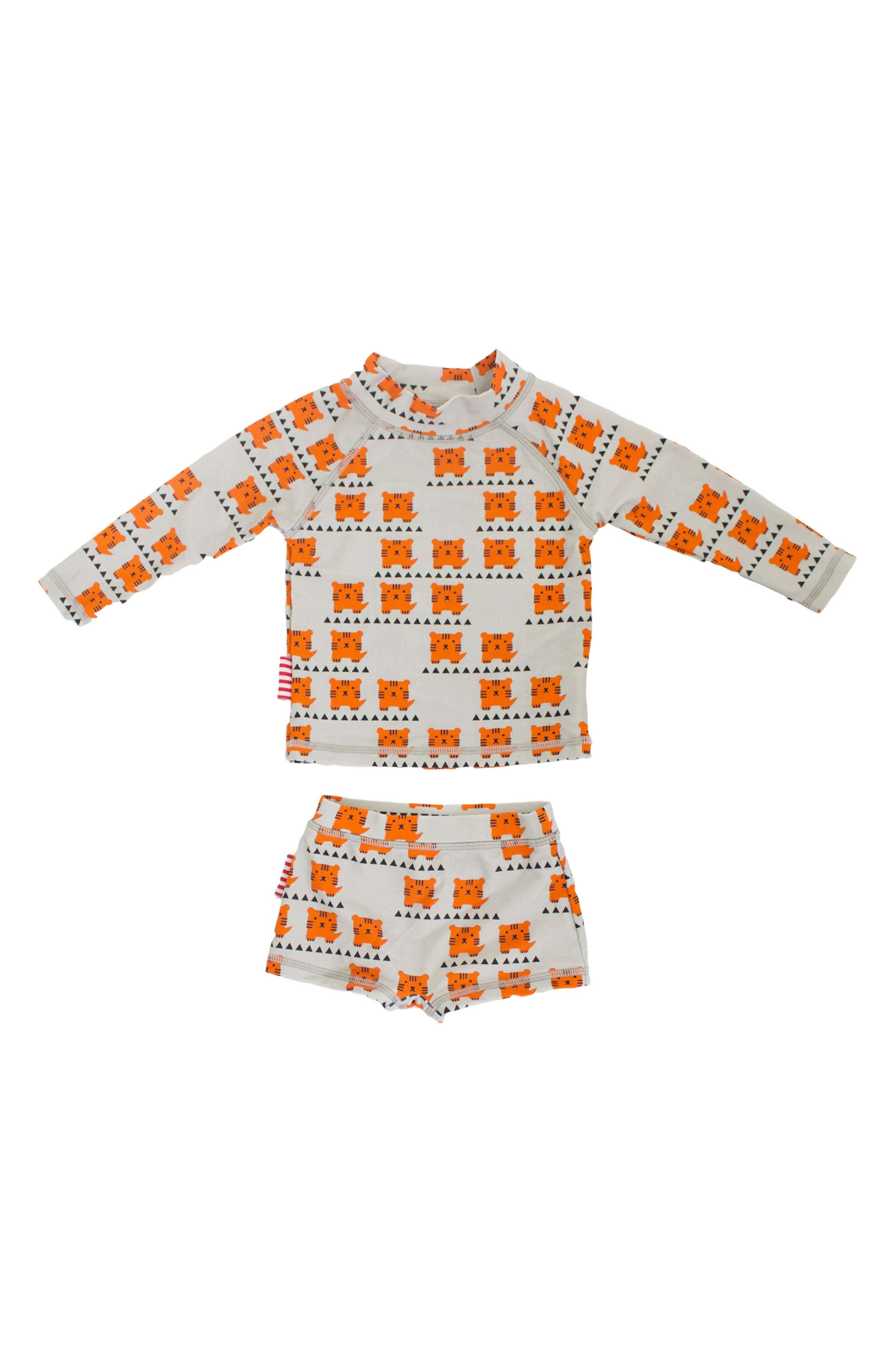 Alternate Image 1 Selected - SOOKIbaby Cub In The Hub Two-Piece Rashguard Swimsuit (Baby Boys)