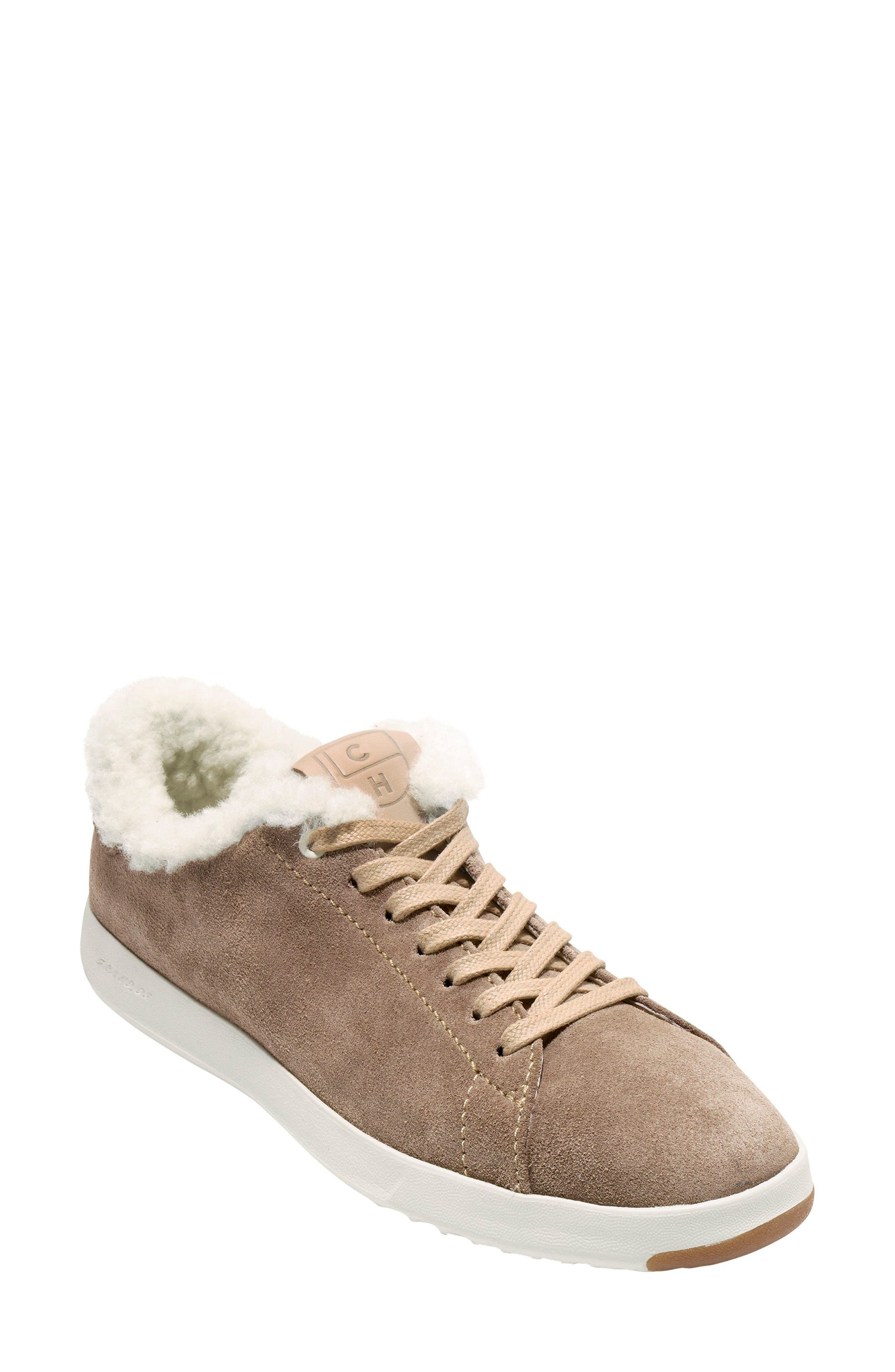 GrandPro Tennis Shoe,                             Main thumbnail 1, color,                             Warm Sand Suede