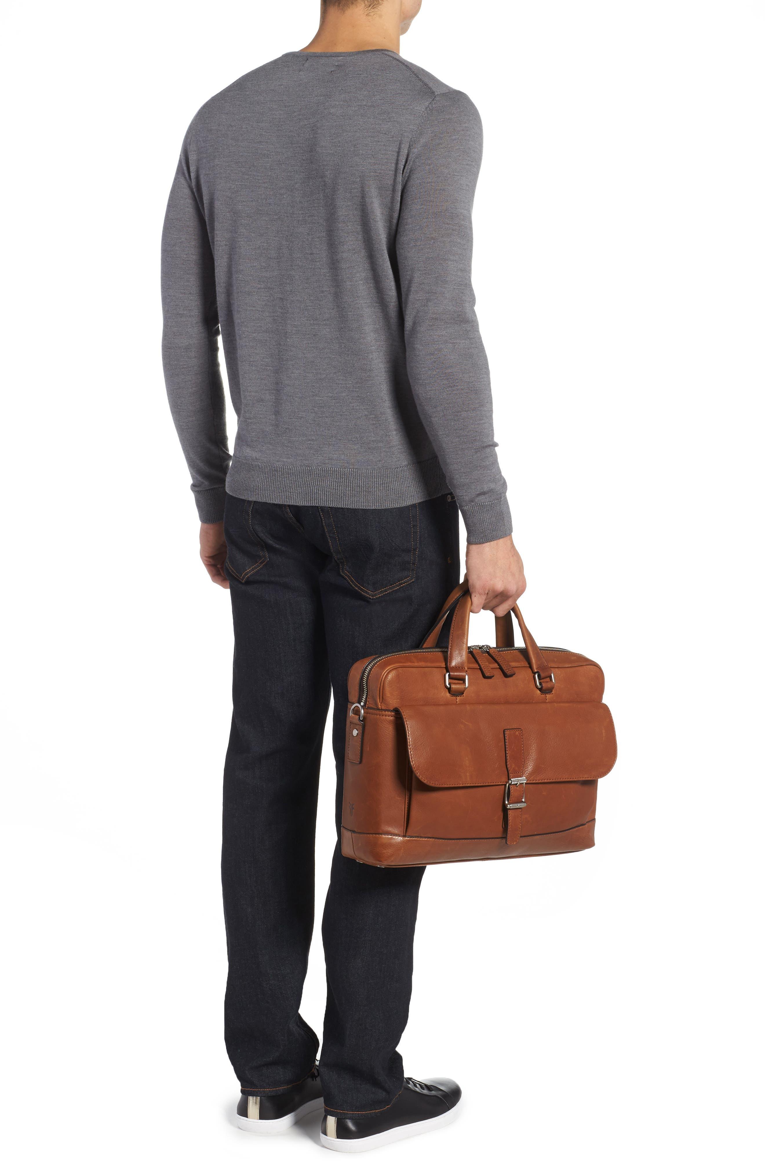 Oliver Leather Briefcase,                             Alternate thumbnail 2, color,                             Cognac