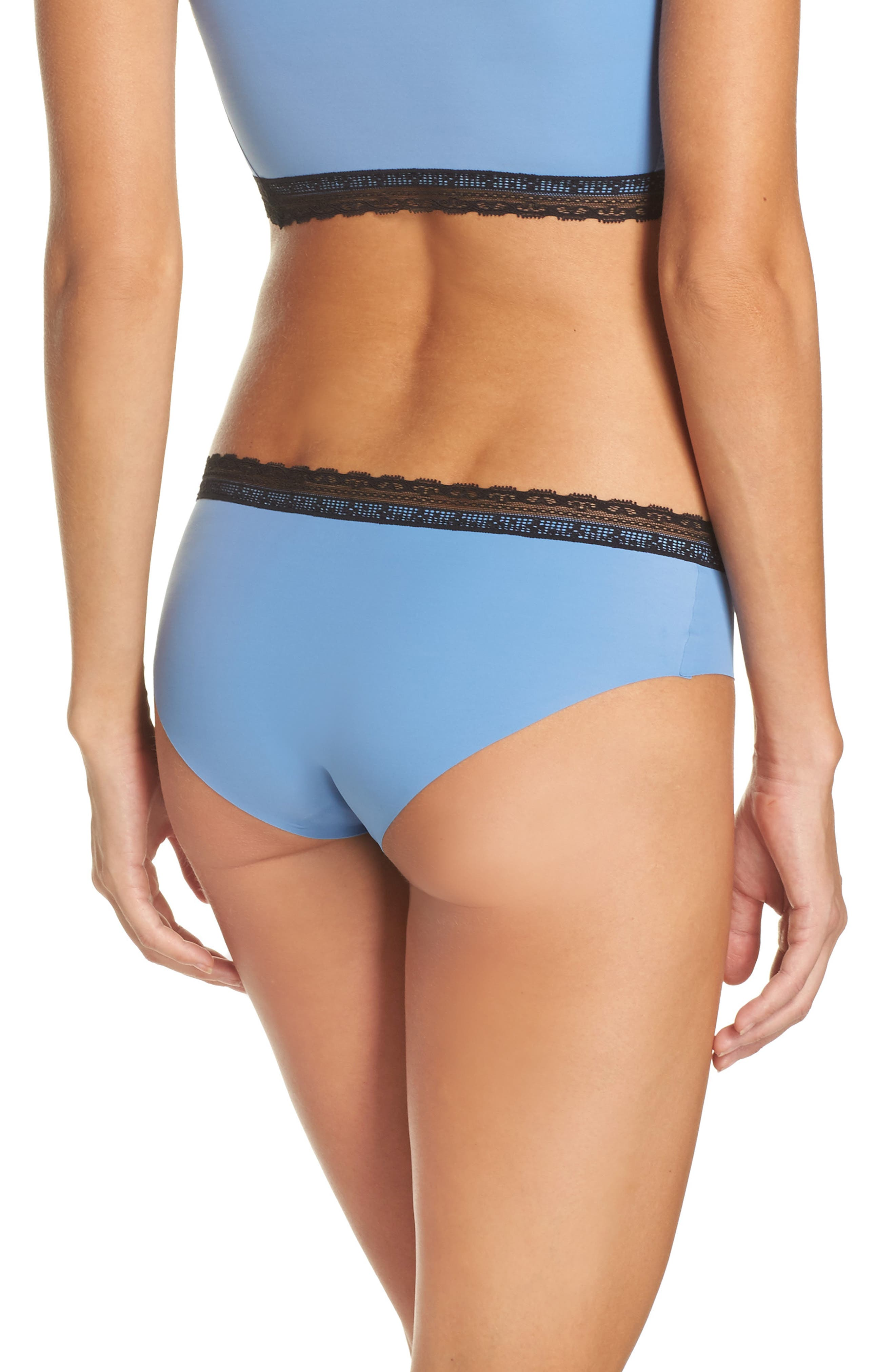 Alternate Image 2  - Naked Almost Naked Lace Trim Hipster Briefs