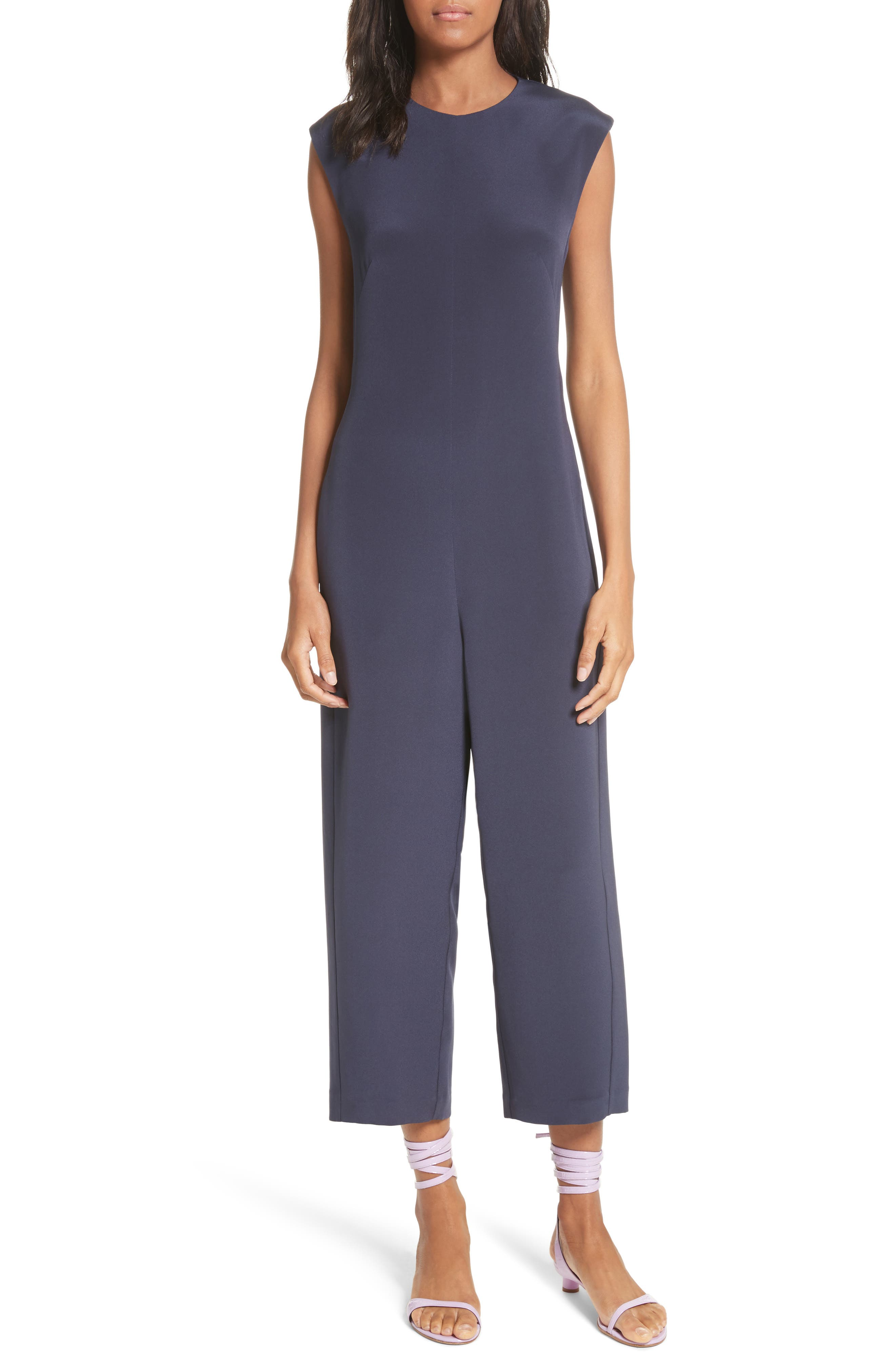Alternate Image 1 Selected - Tibi Open Back Four-Ply Silk Jumpsuit