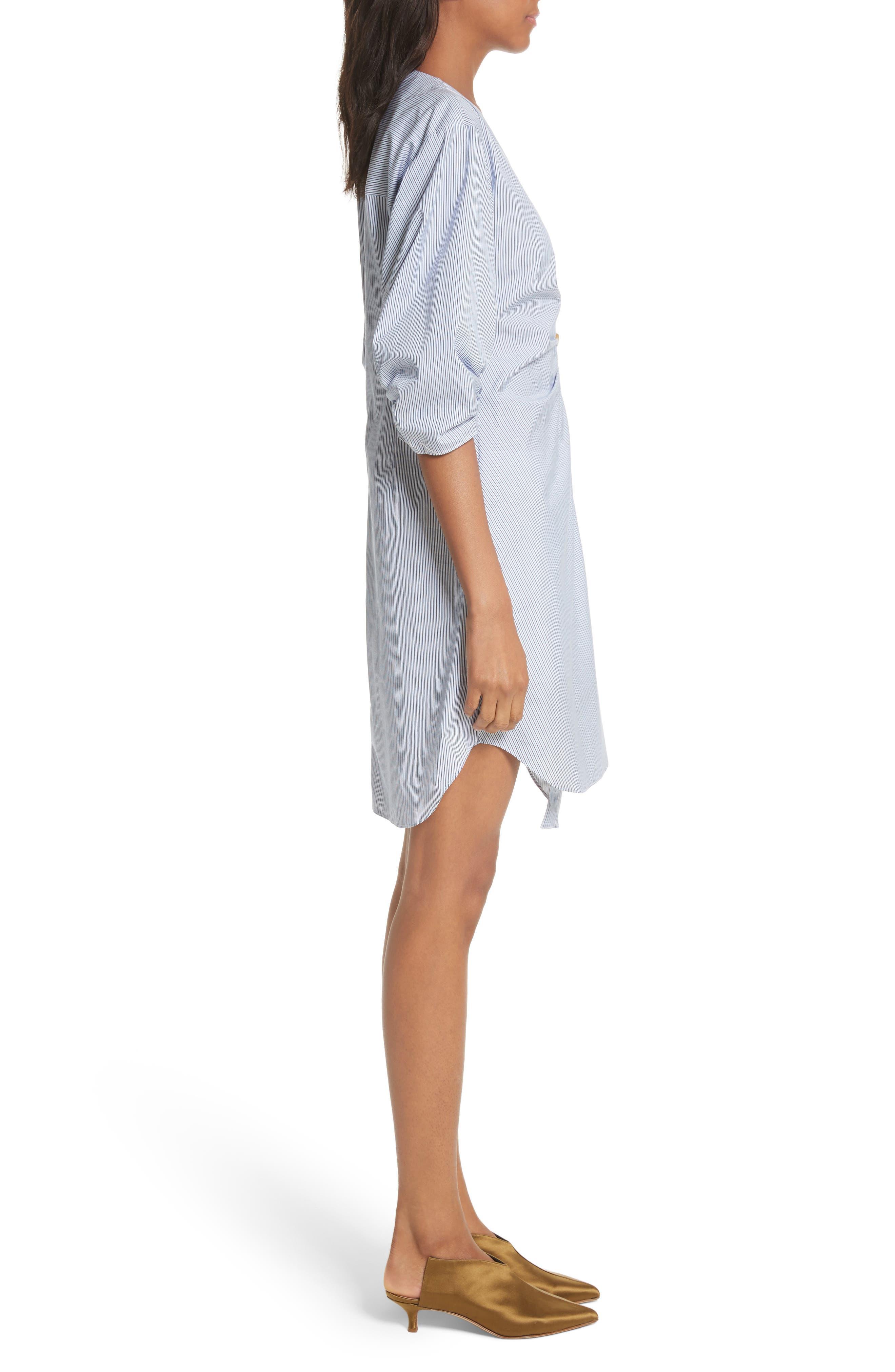 Asymmetrical Cotton Shirtdress,                             Alternate thumbnail 2, color,                             Blue Multi