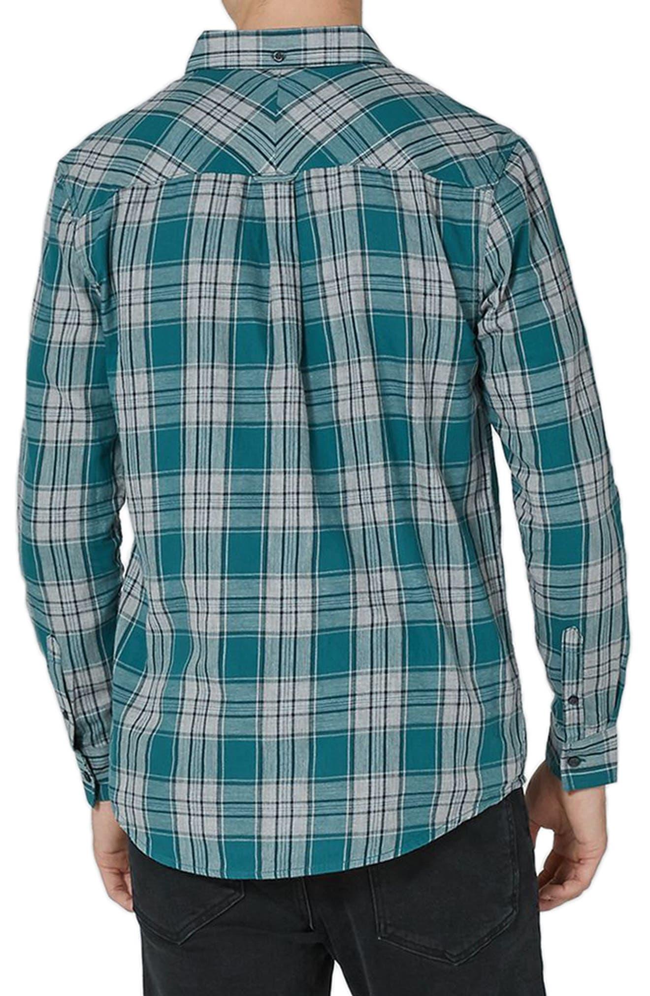 Charlie Check Shirt,                             Alternate thumbnail 2, color,                             Blue Multi