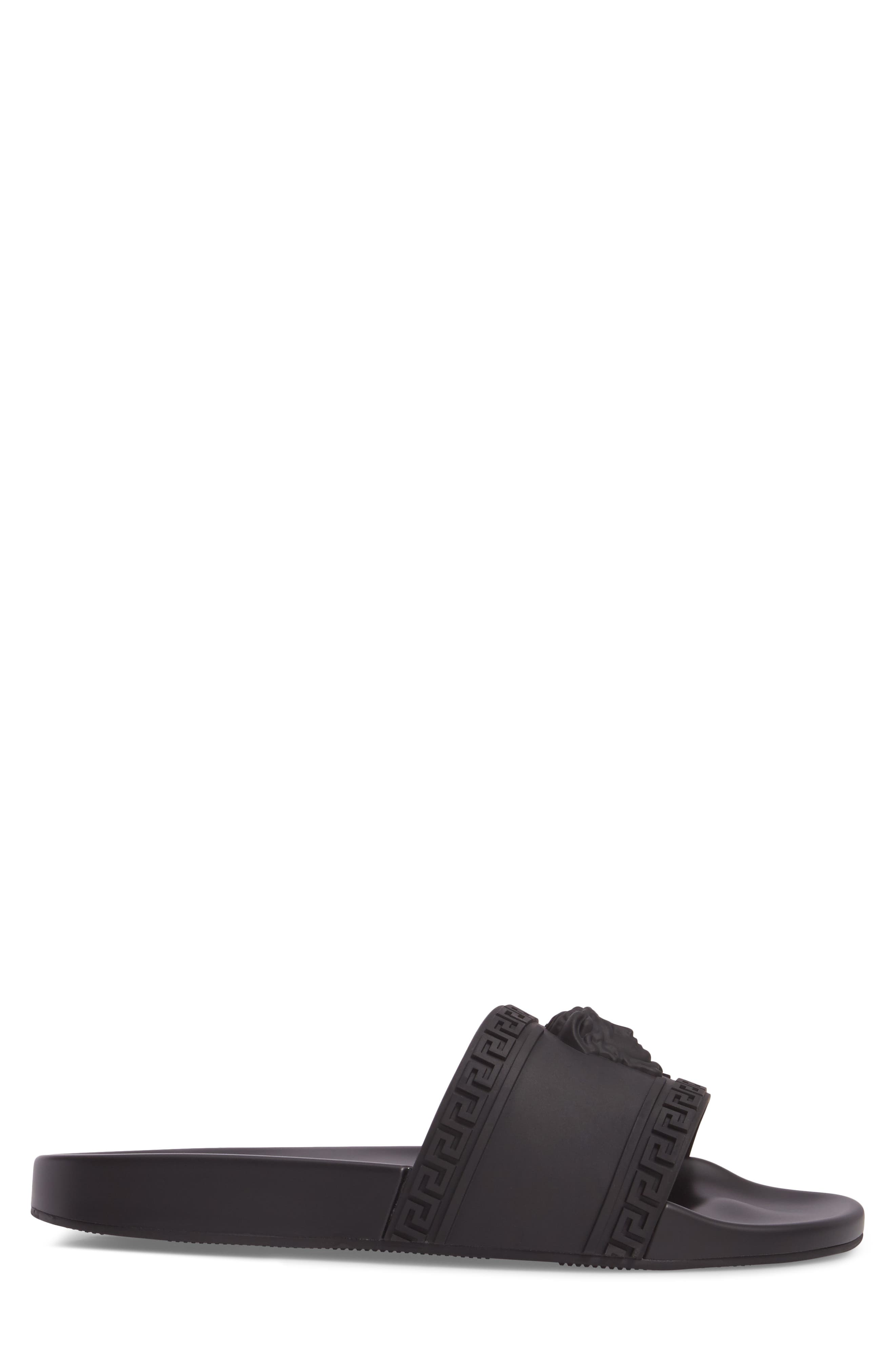 Palazzo Medusa Slide Sandal,                             Alternate thumbnail 3, color,                             Black