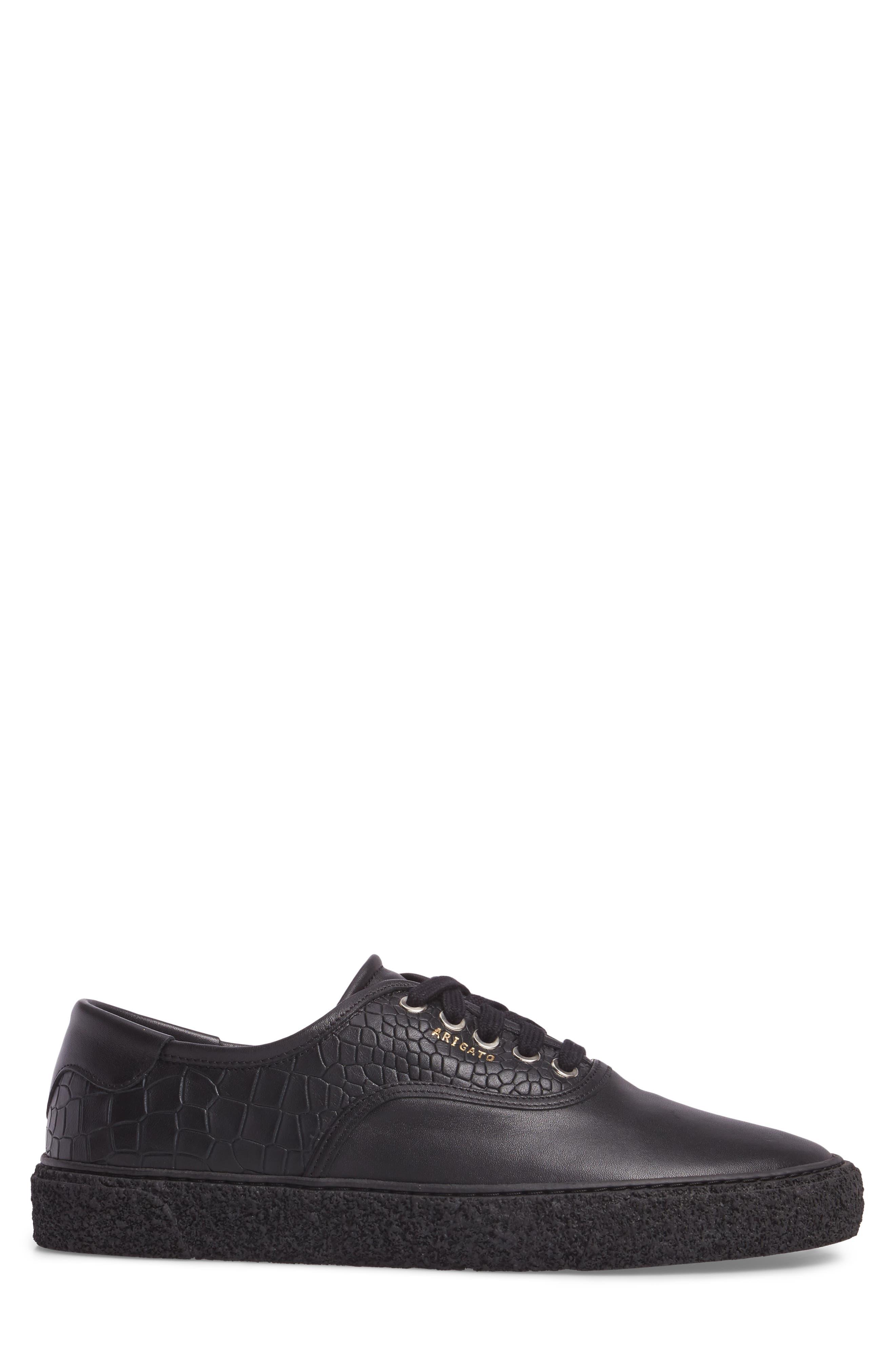 Skate Embossed Sneaker,                             Alternate thumbnail 3, color,                             Black Leather