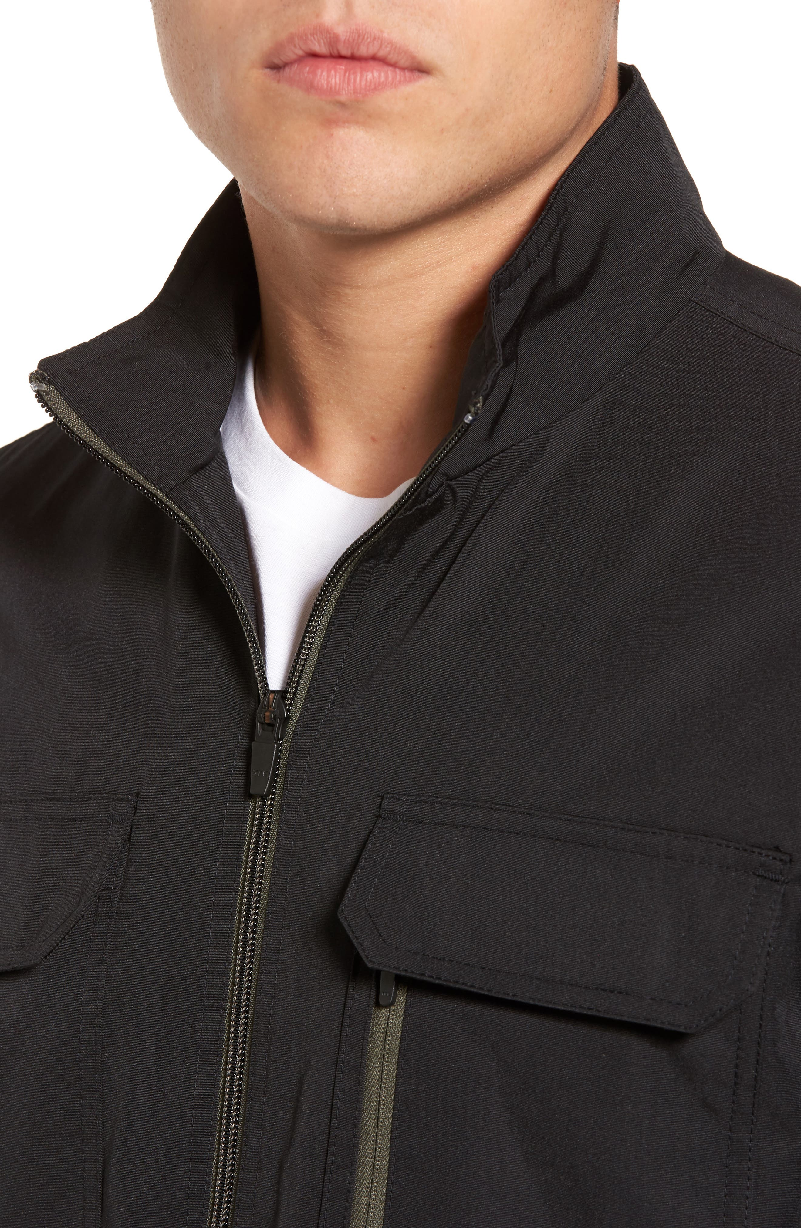 Staple Jacket,                             Alternate thumbnail 4, color,                             Solid Black