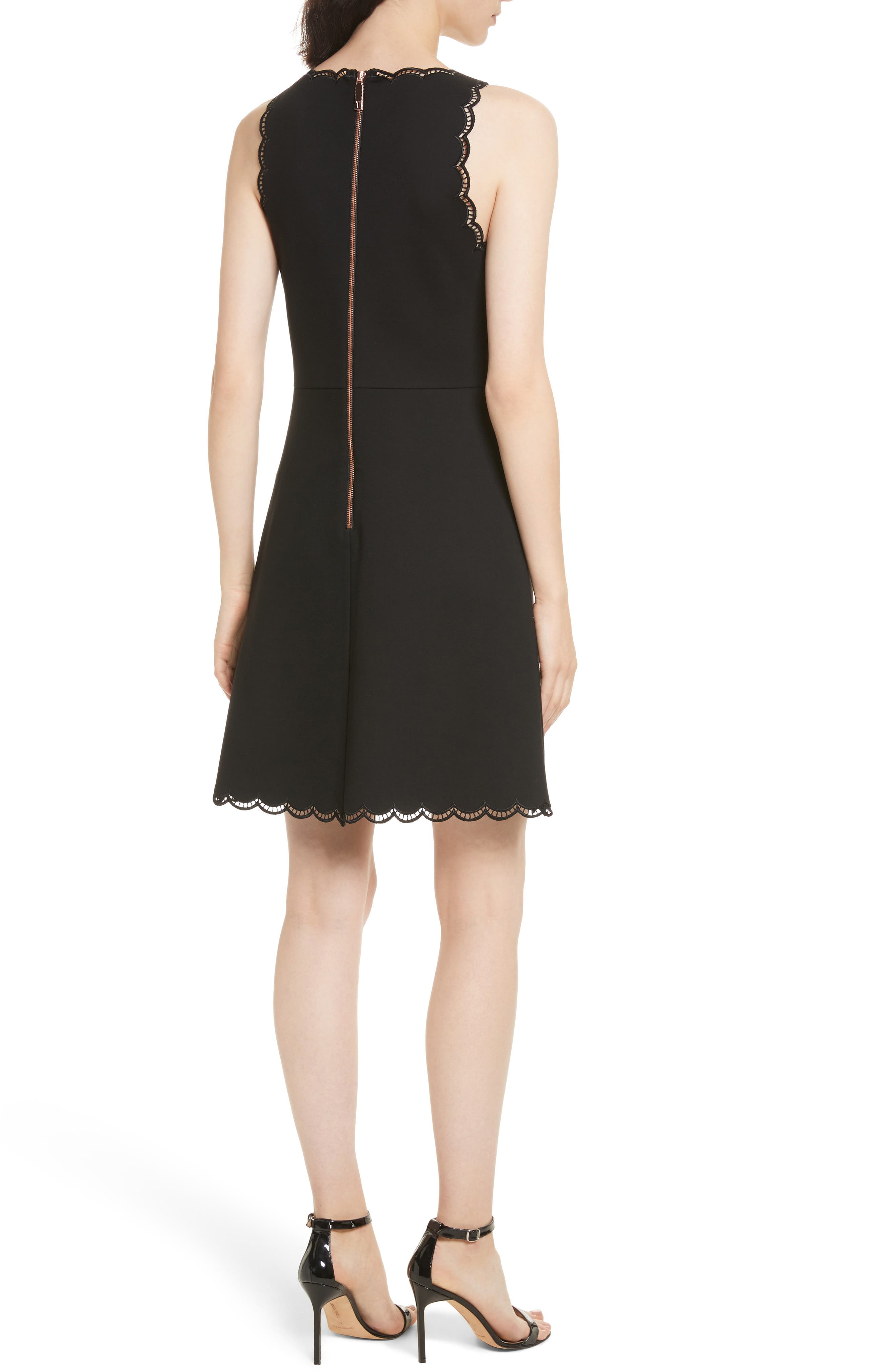 Alternate Image 2  - Ted Baker London Codi Embroidered Scallop A-Line Dress