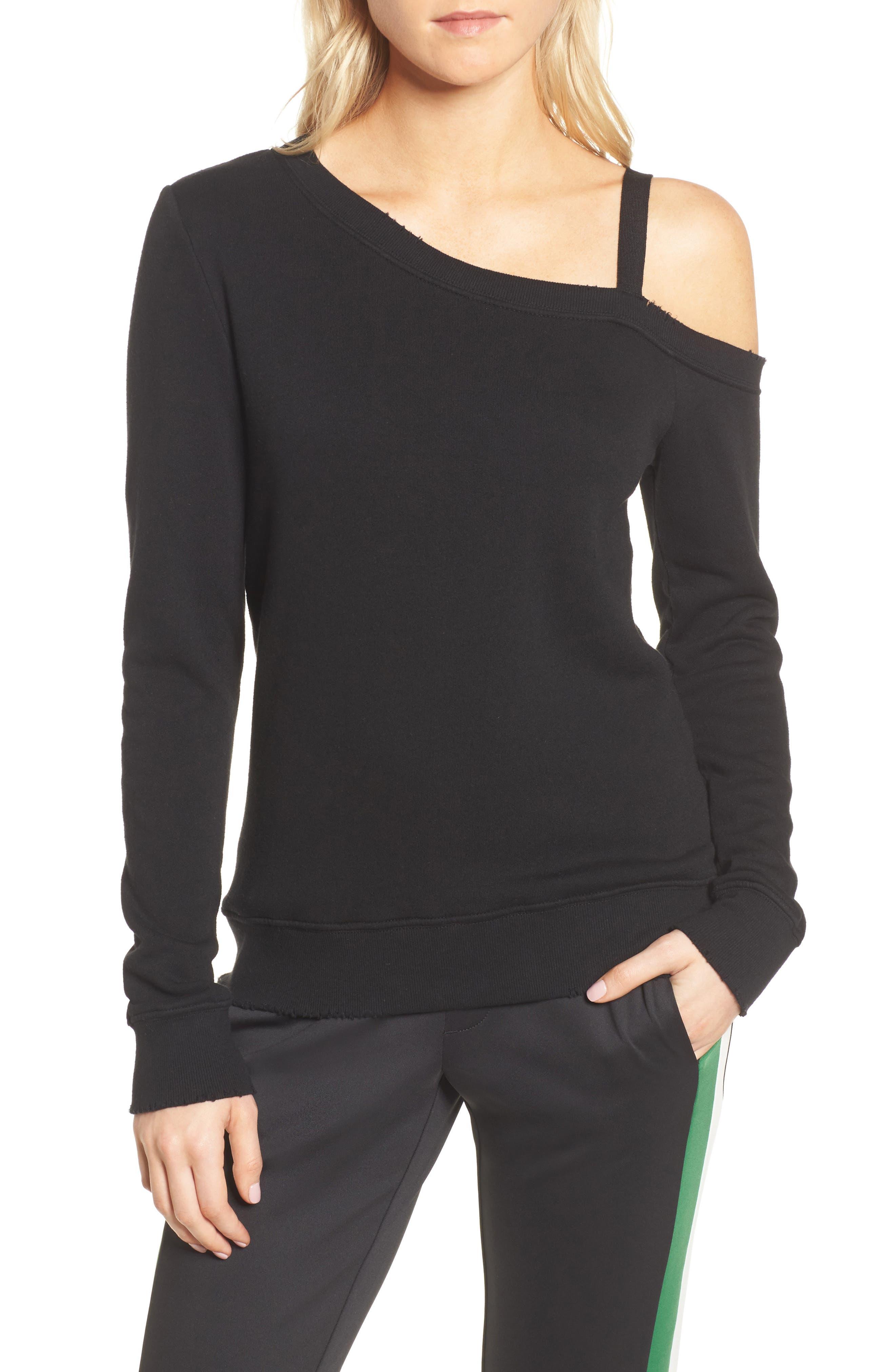 Pam & Gela One-Shoulder Sweatshirt