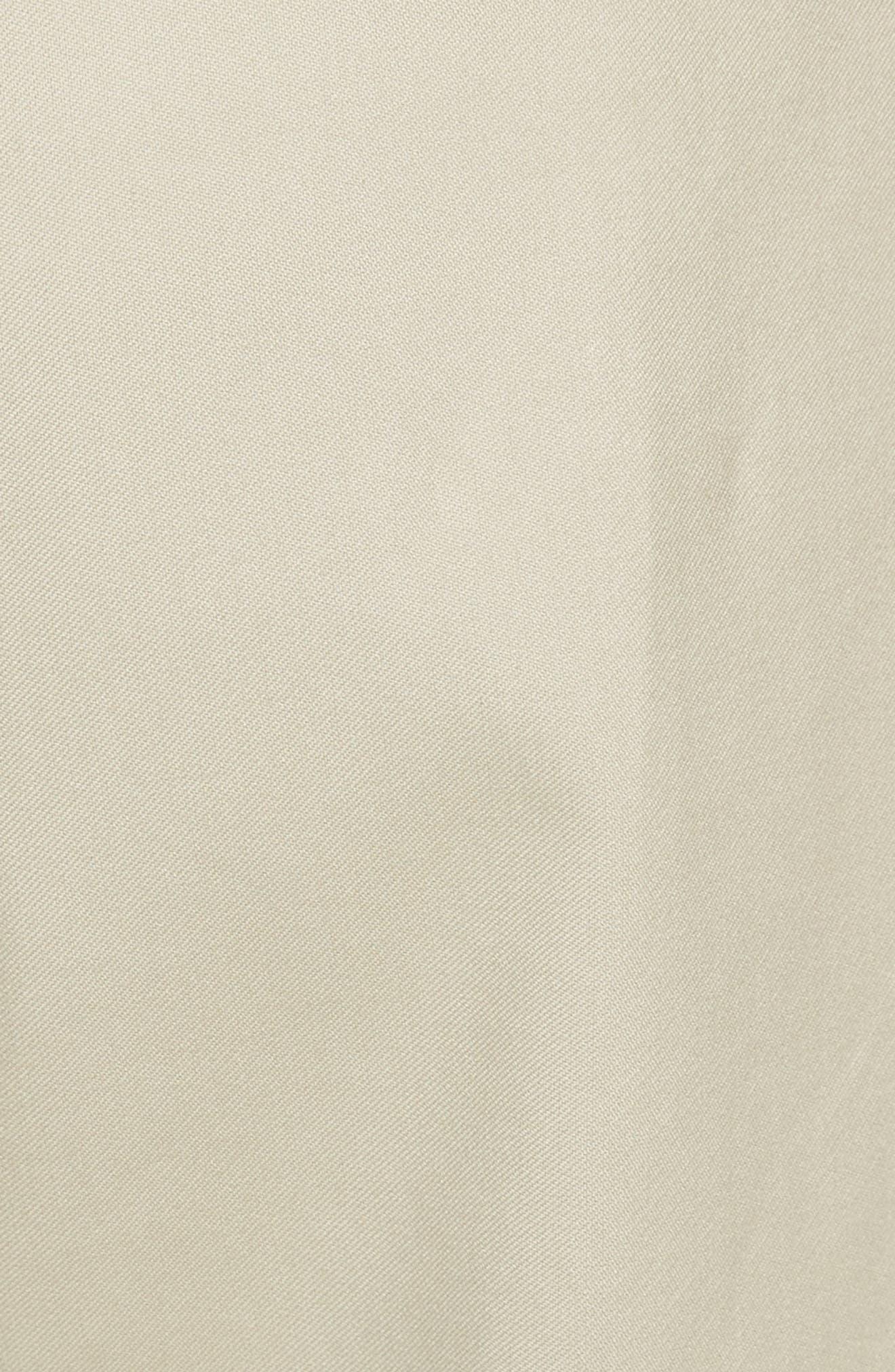 Cropped Cotton Pants,                             Alternate thumbnail 5, color,                             Moss