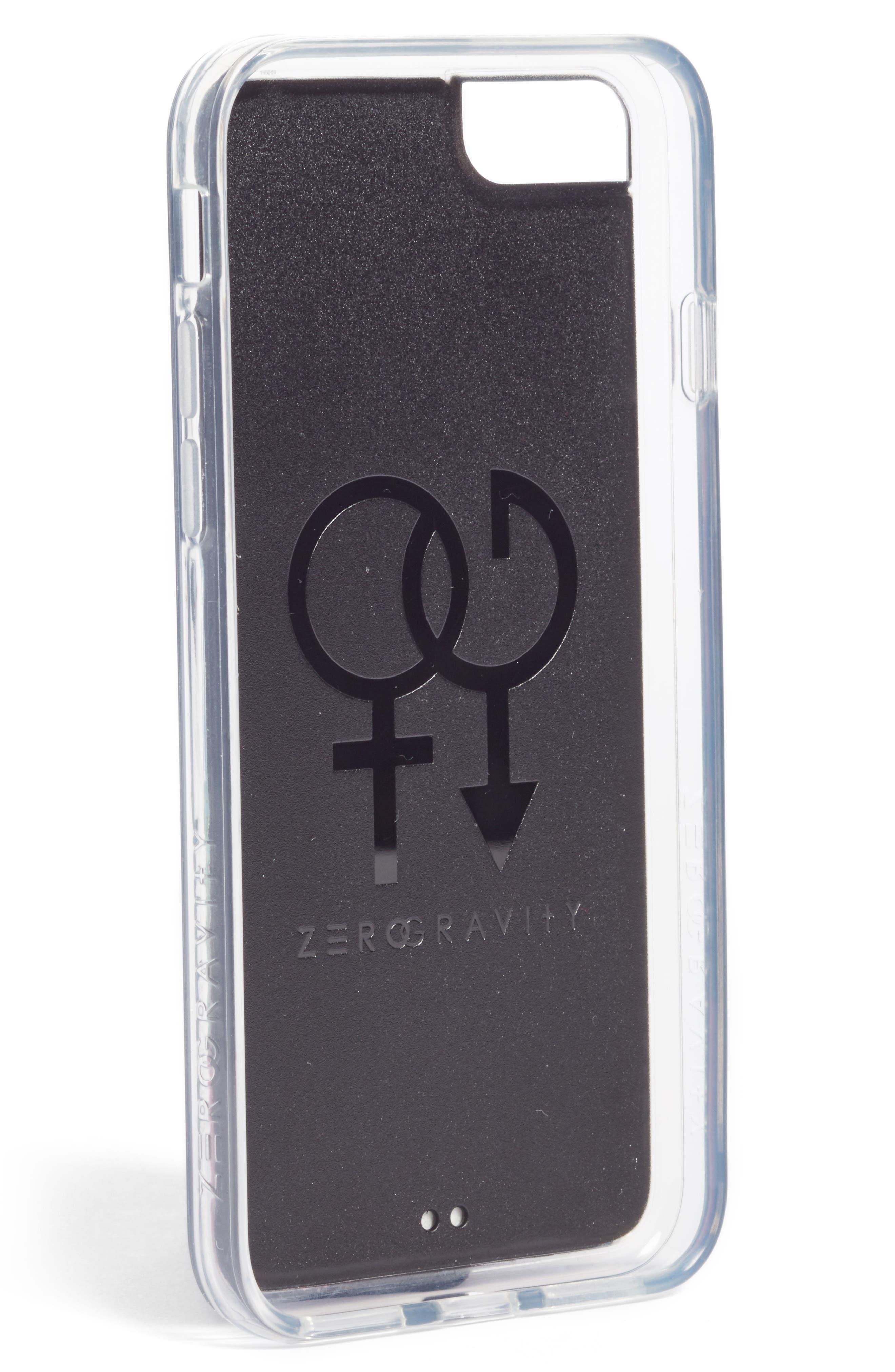 Chevron Faux Leather iPhone 6/6s/7/8 & 6/6s/7/8 Plus Case,                             Alternate thumbnail 2, color,                             Metallic Multi