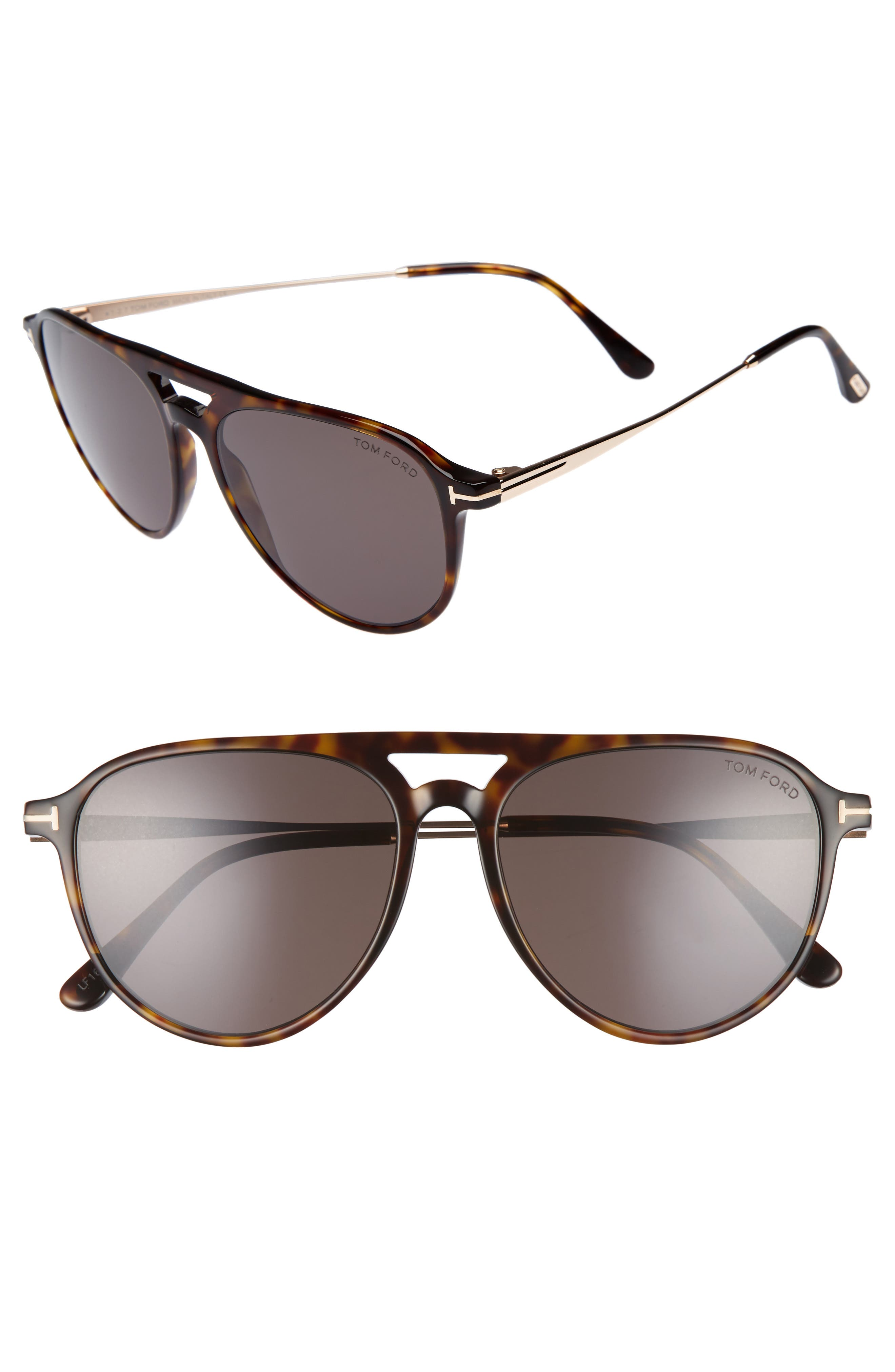 Alternate Image 1 Selected - Tom Ford Carlo 59mm Aviator Sunglasses